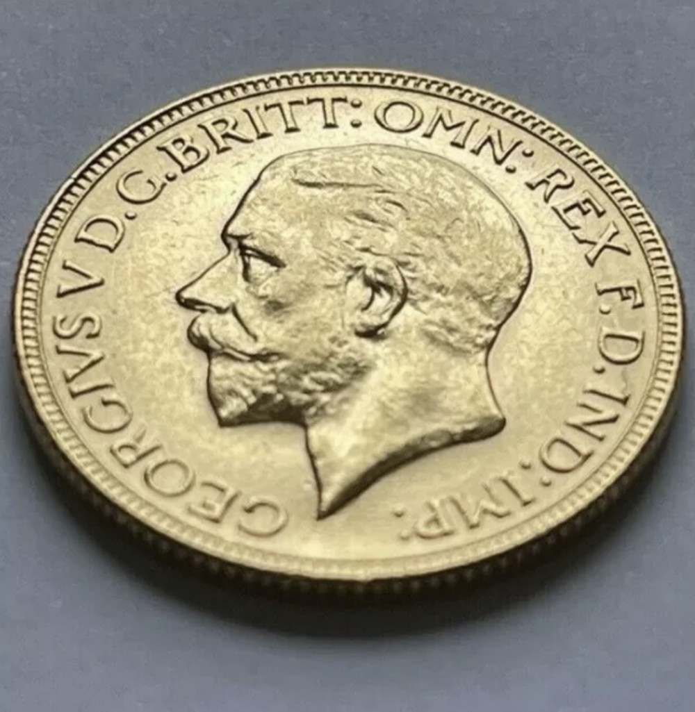 1930 gold sovereign coin george v st george melbourne mint only 77588 minted