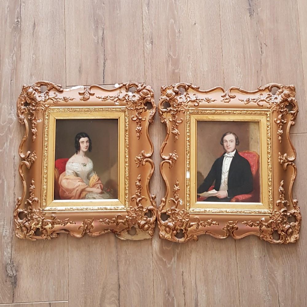 pair of stunning late georgian portraits
