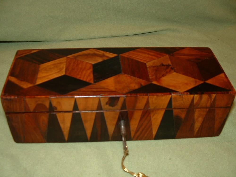 Genuine Georgian Specimen Woods Tunbridge Ware Box C1815 506551