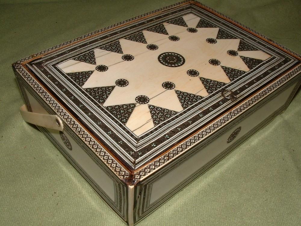 unusual sadeli ware basket jewellery trinket box c1890