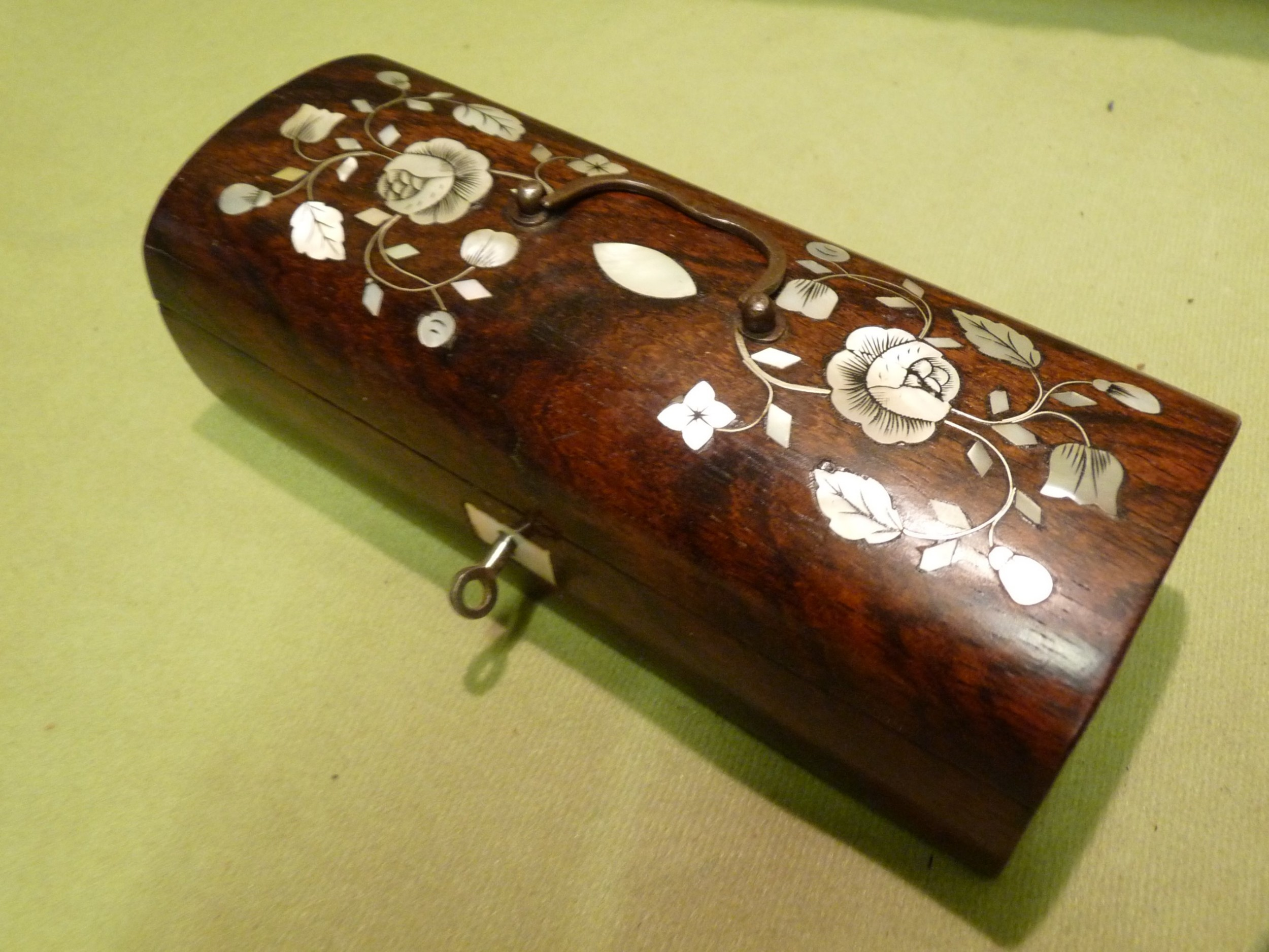 french inlaid rosewood box c1850