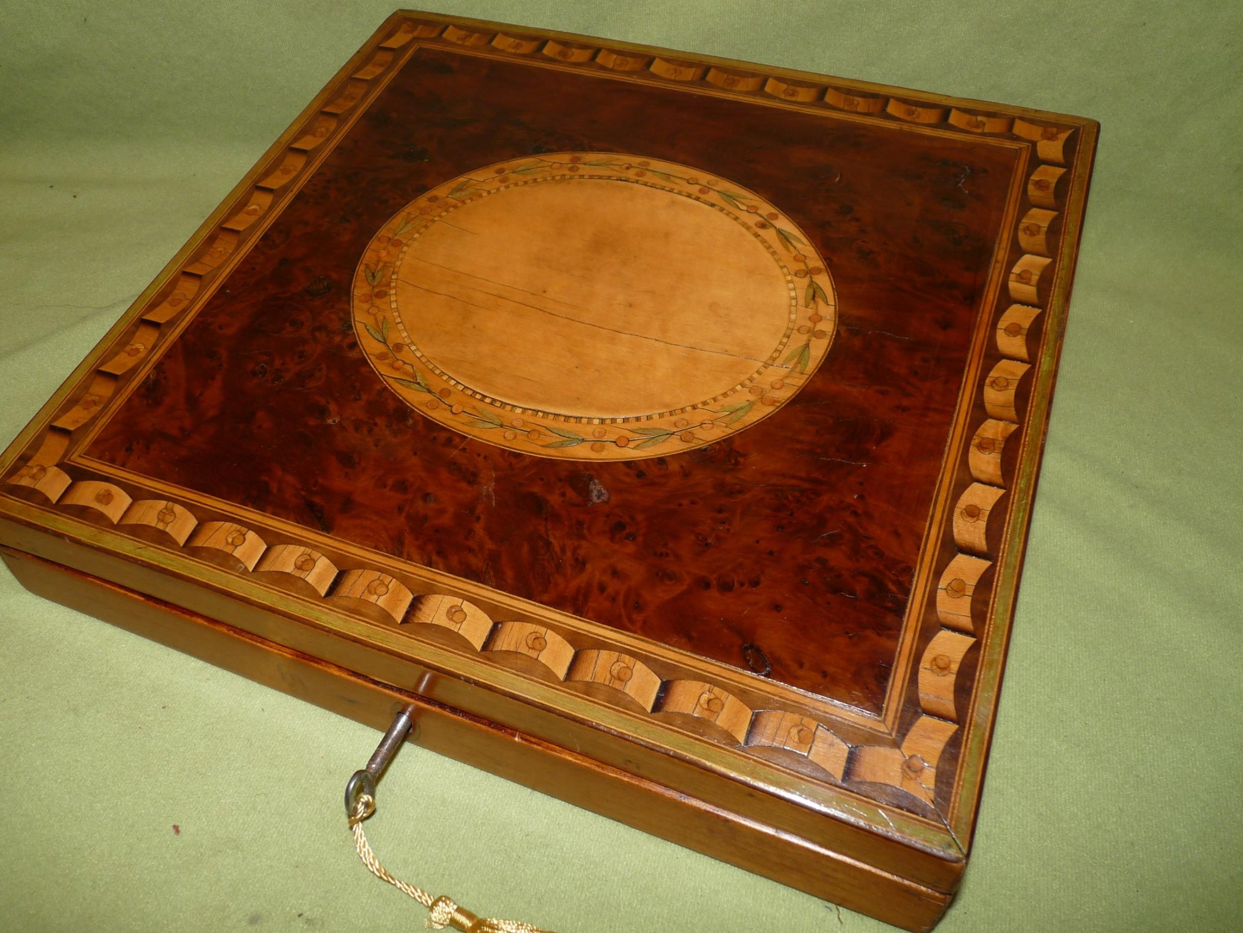neoclassic georgian writing box unusual feature c1800