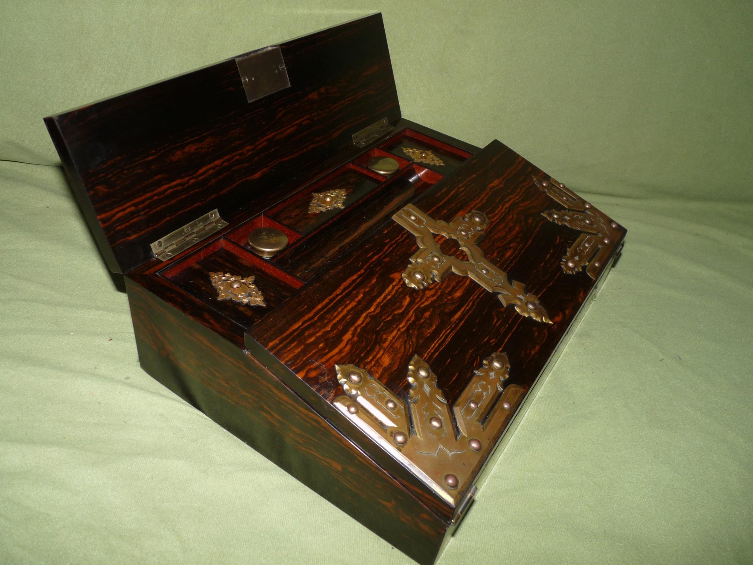 quality betjemann coromandel writing box 100 original c1870