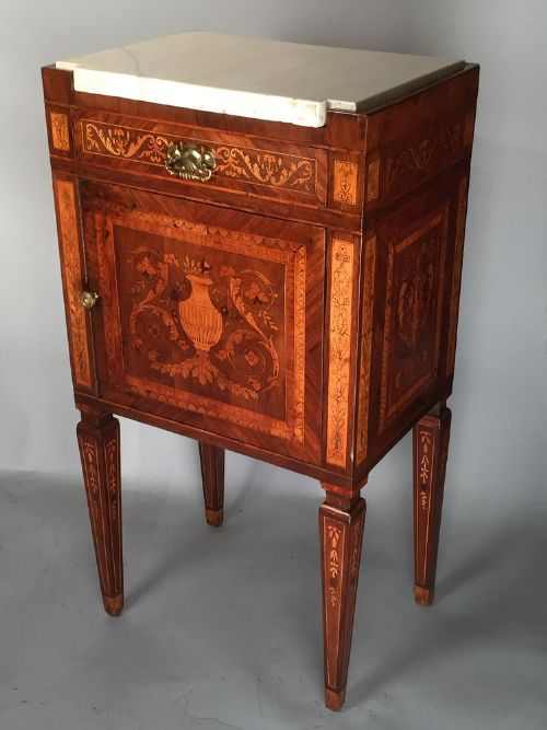 antique italian maggiolini marquetry petite commode or commodino ca 1790 452919. Black Bedroom Furniture Sets. Home Design Ideas