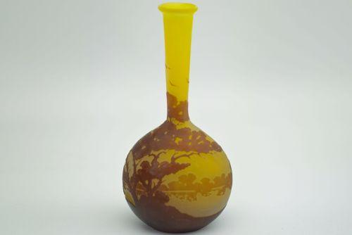 galle cameo glass landscape vase c1910