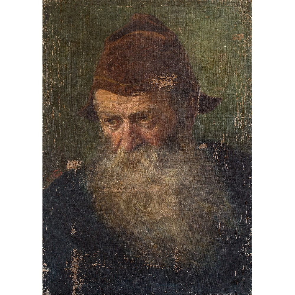 19th century portrait of a bearded french gentleman oil on canvas