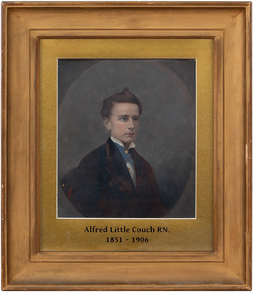 19thcentury portrait of alfred little couch rn antique painting