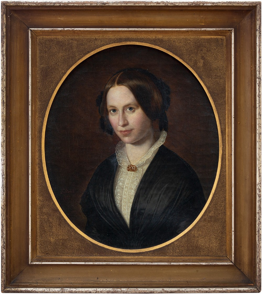 frederik storch portrait of a woman 19th century oil painting