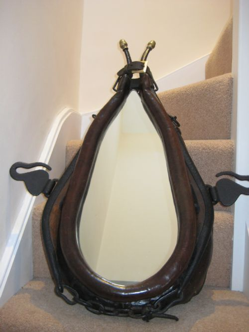 English Leather Shire Horse Collar Mirror C1880 216205