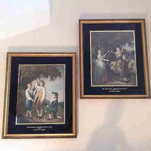 pair of frames pictures henry graves by apptcoloured prints joseph wright of derby 19th c