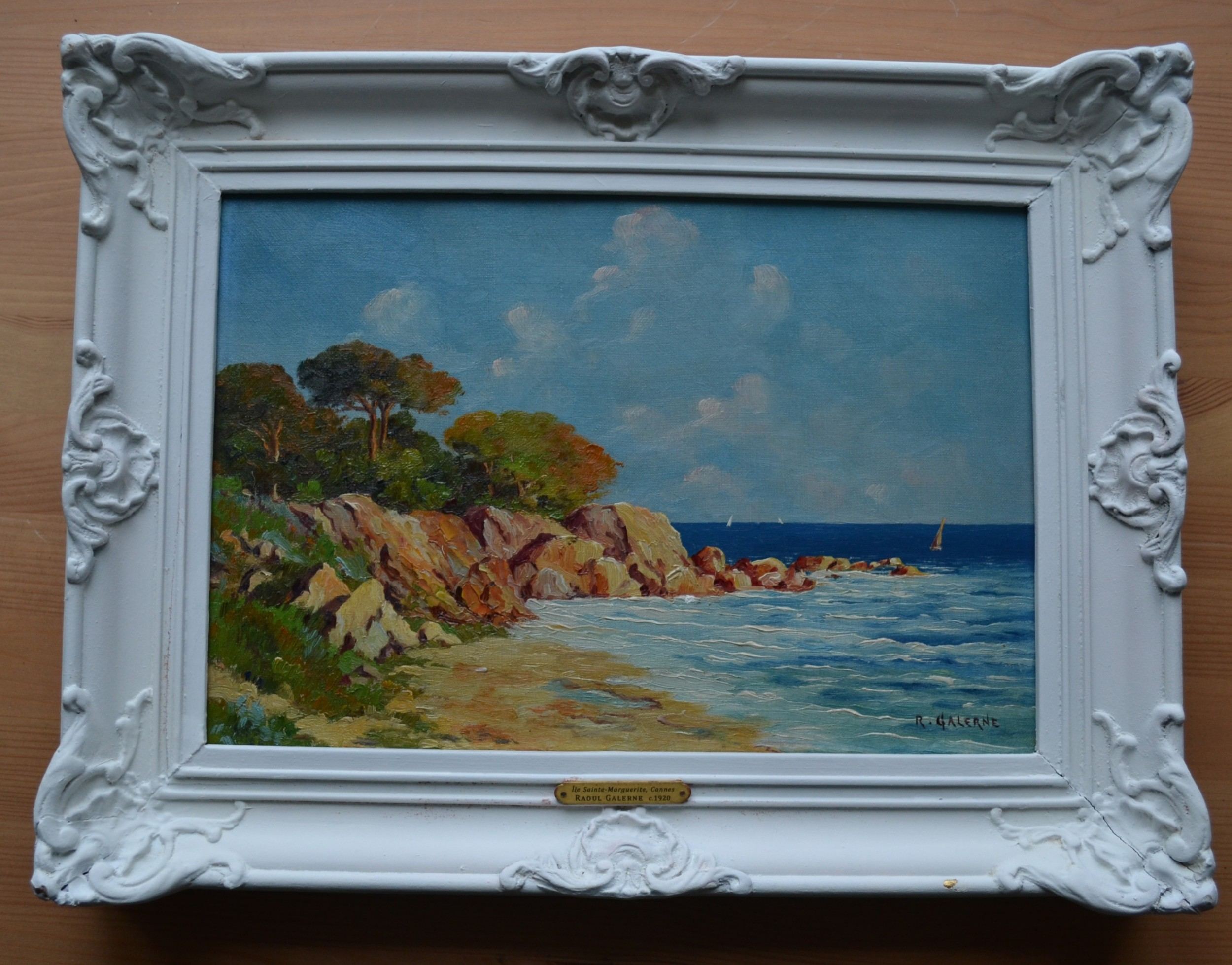 le saintemarguerite cannes c 1920 landscape oil painting on canvas raoul galerne french b1875