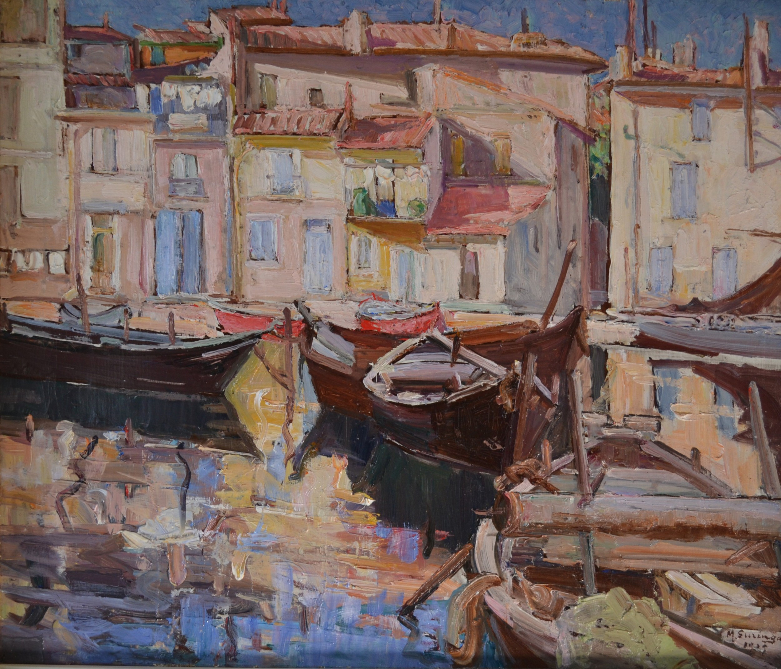 cannes cte d'azur 1929 oil on canvas french impressionist m suringar french