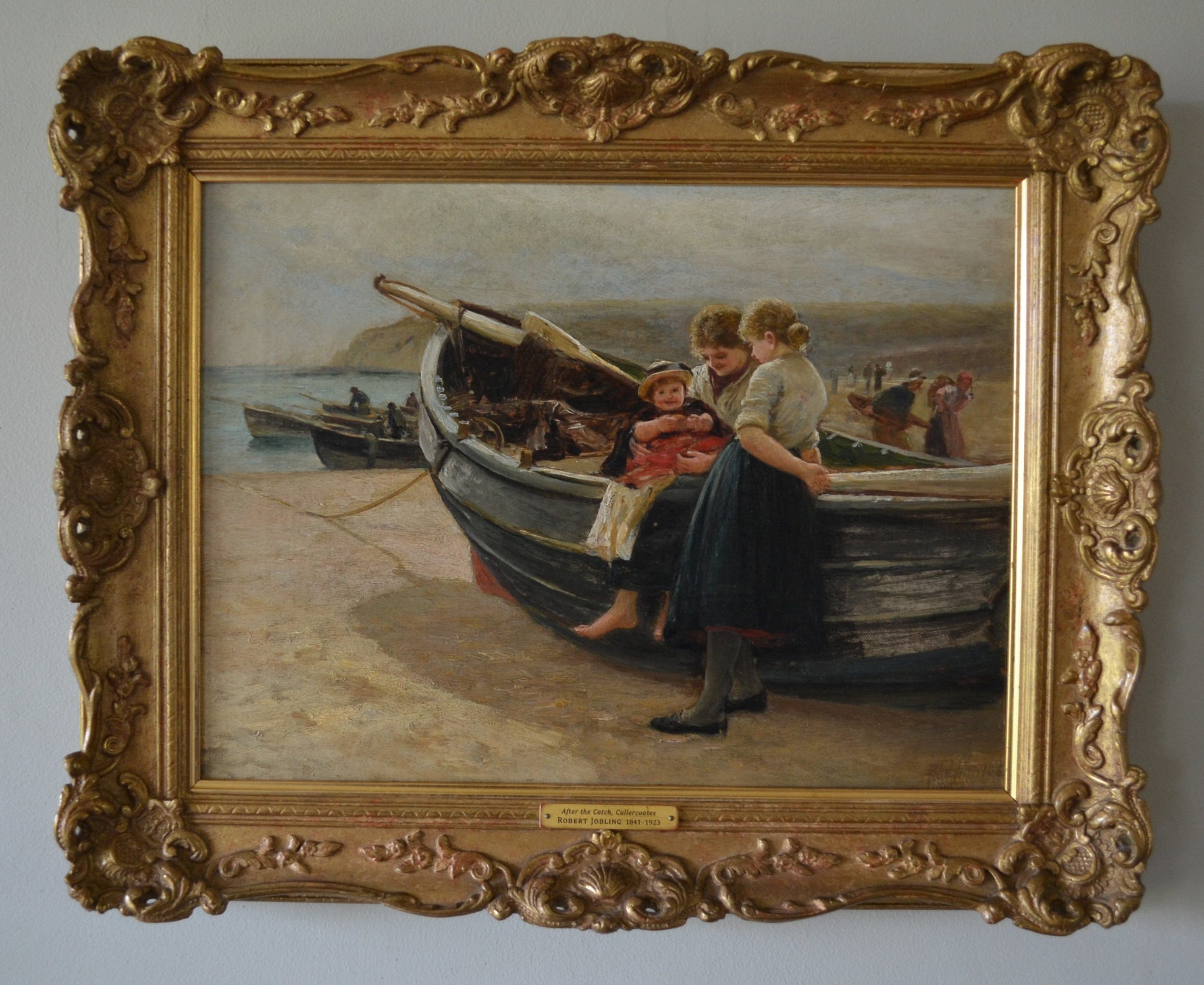 after the catch cullercoates c1880 robert jobling 18411923 staithes school oil on canvas