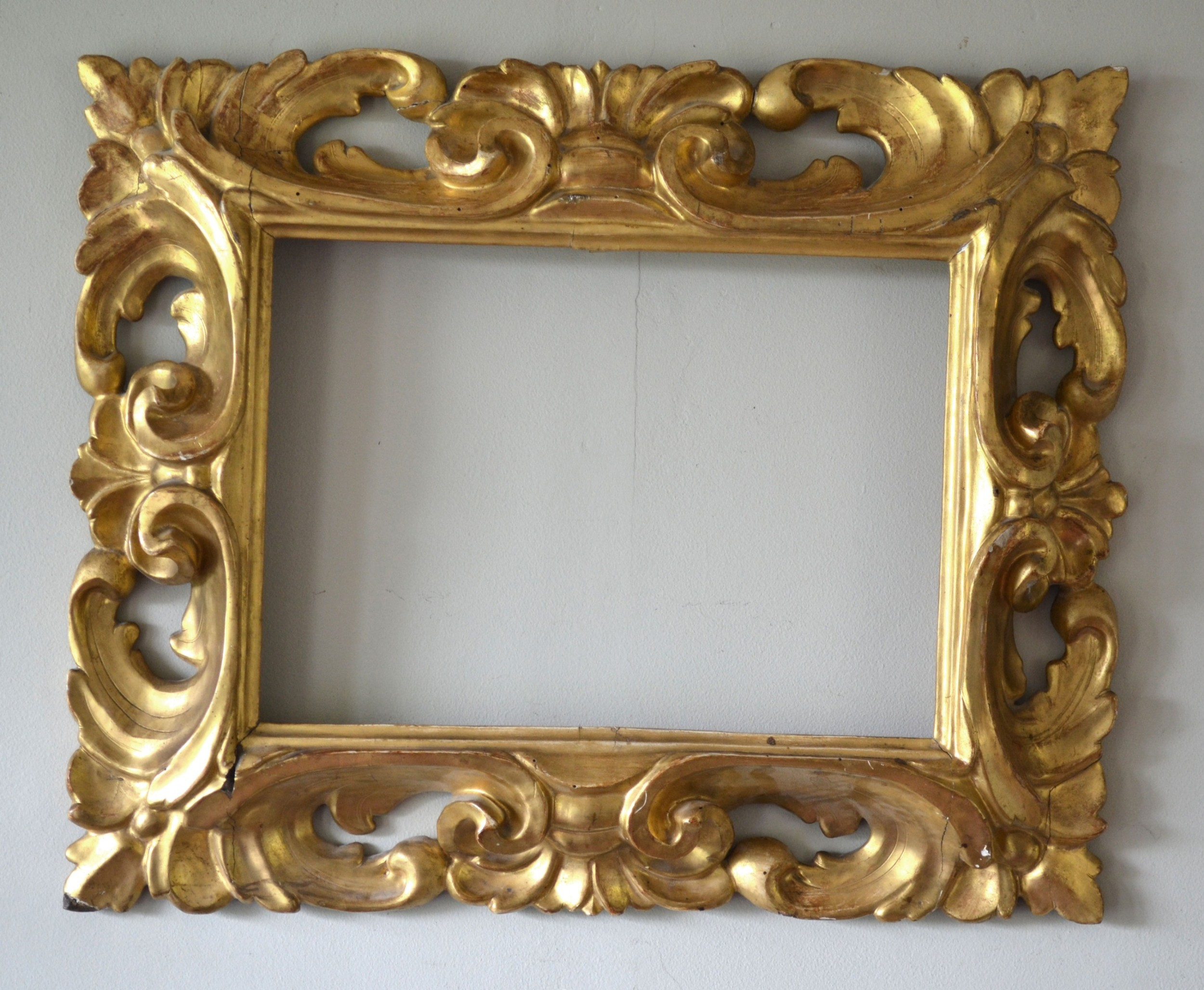beautiful 19th century carved and gilded florentine frame takes painting 39cm x 285cm 15 14 x 11