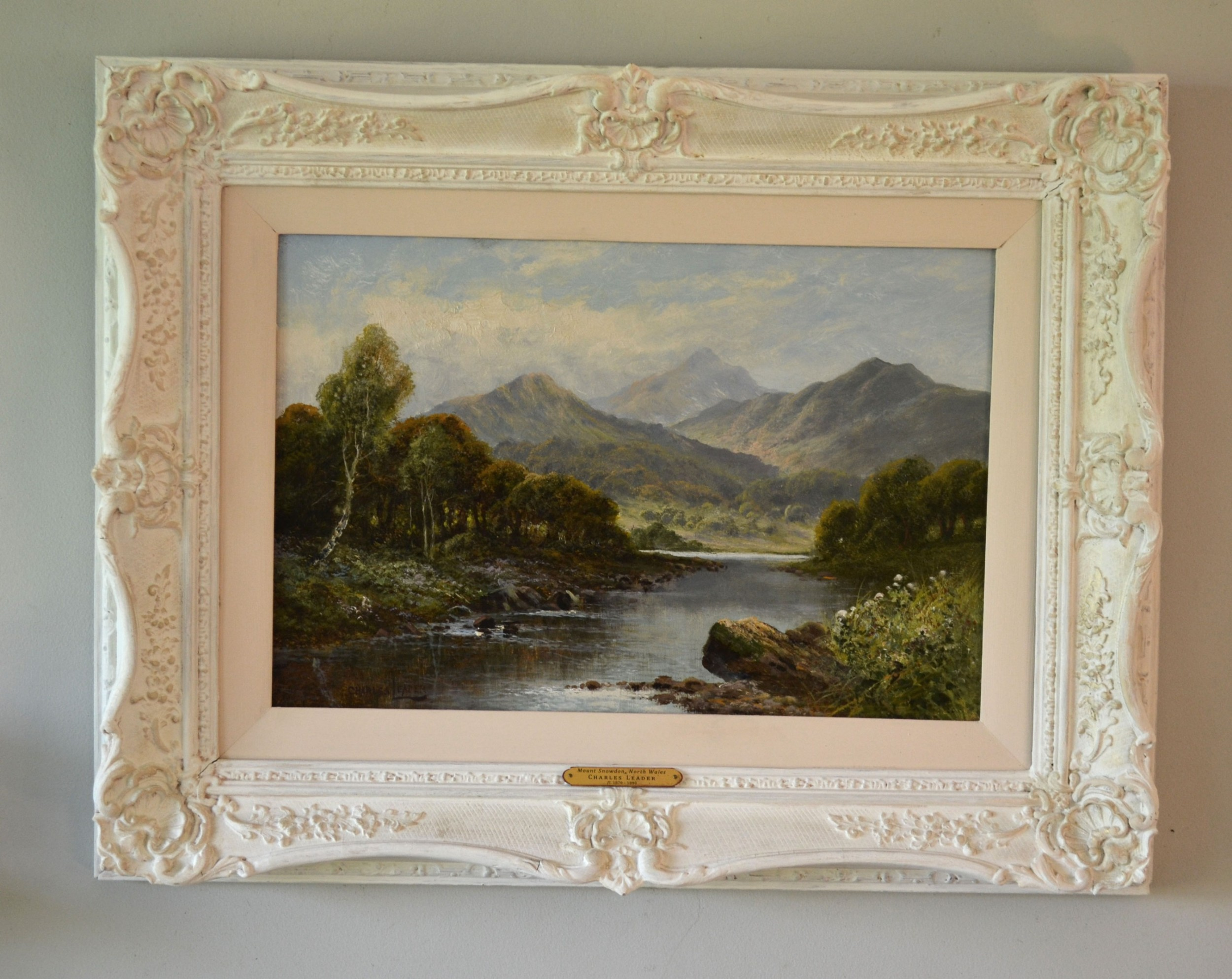 mount snowdon north wales c1880 oil on canvas charles leader fl 18701890