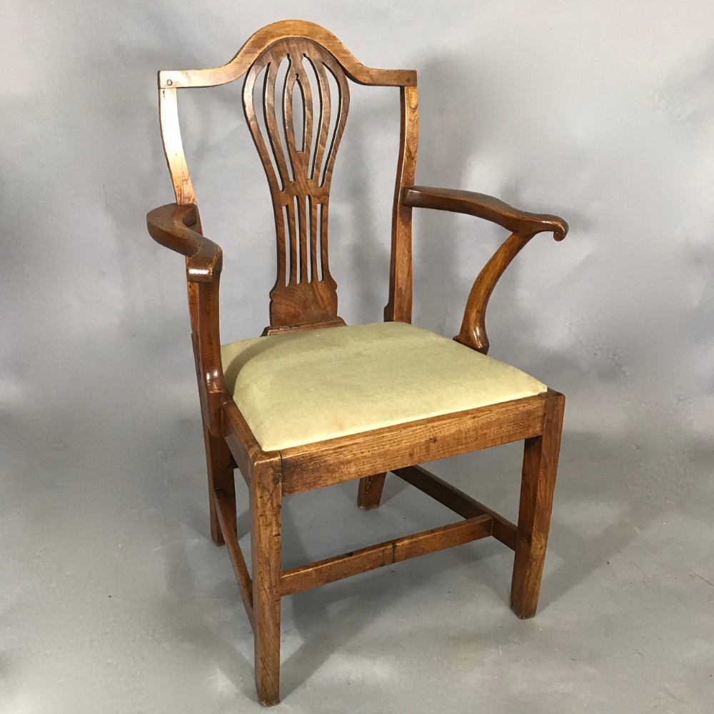 george iii elm armchair