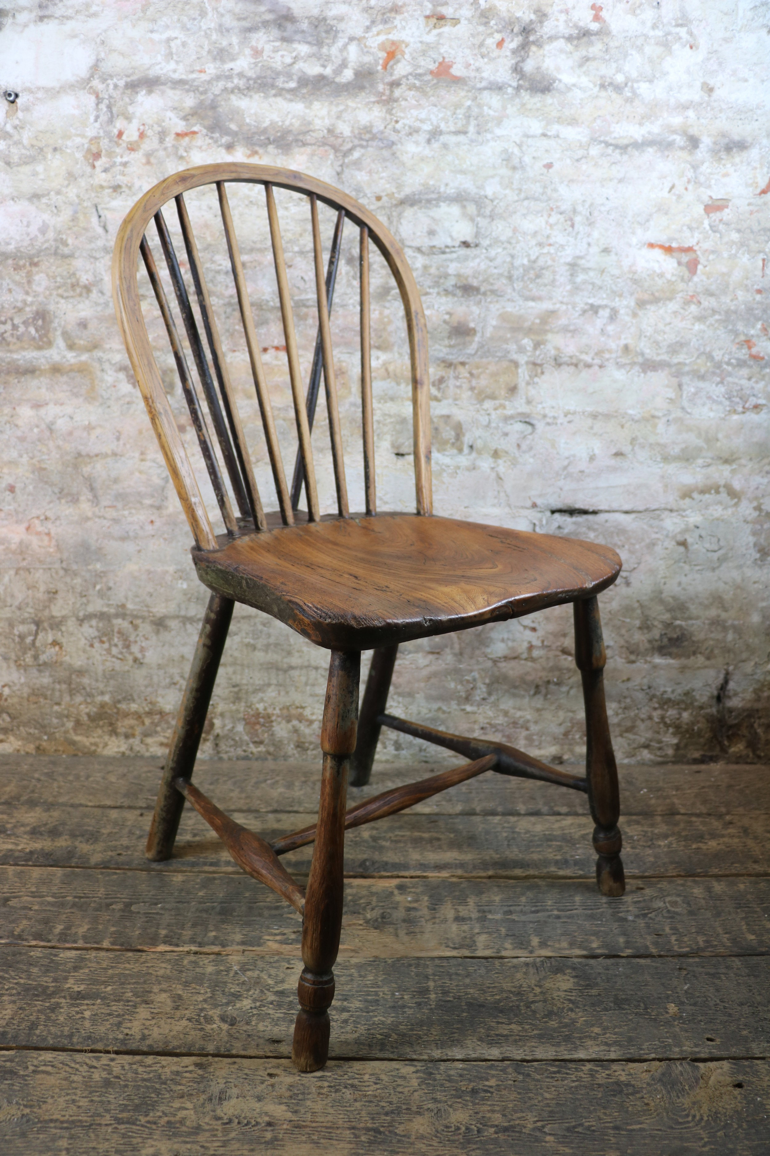 18th century west country stick chair hoop windsor antique primitive