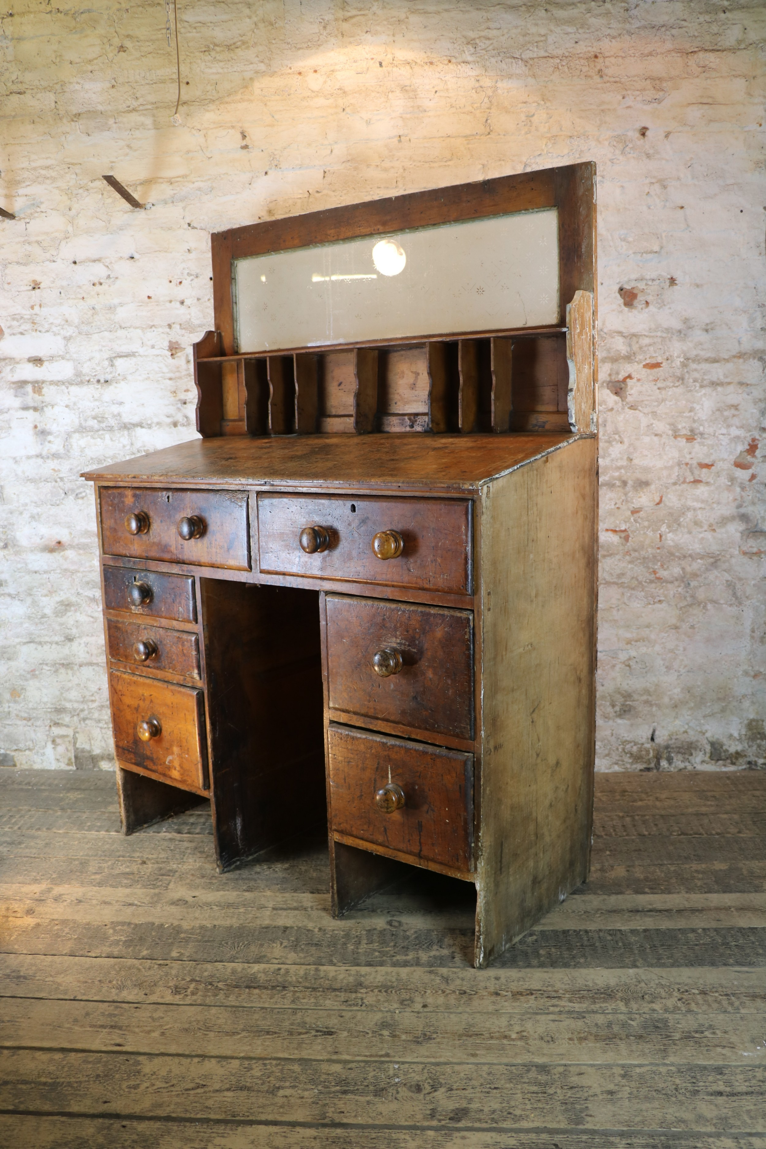 welsh 19th century pine booking clerks counter chest of drawers