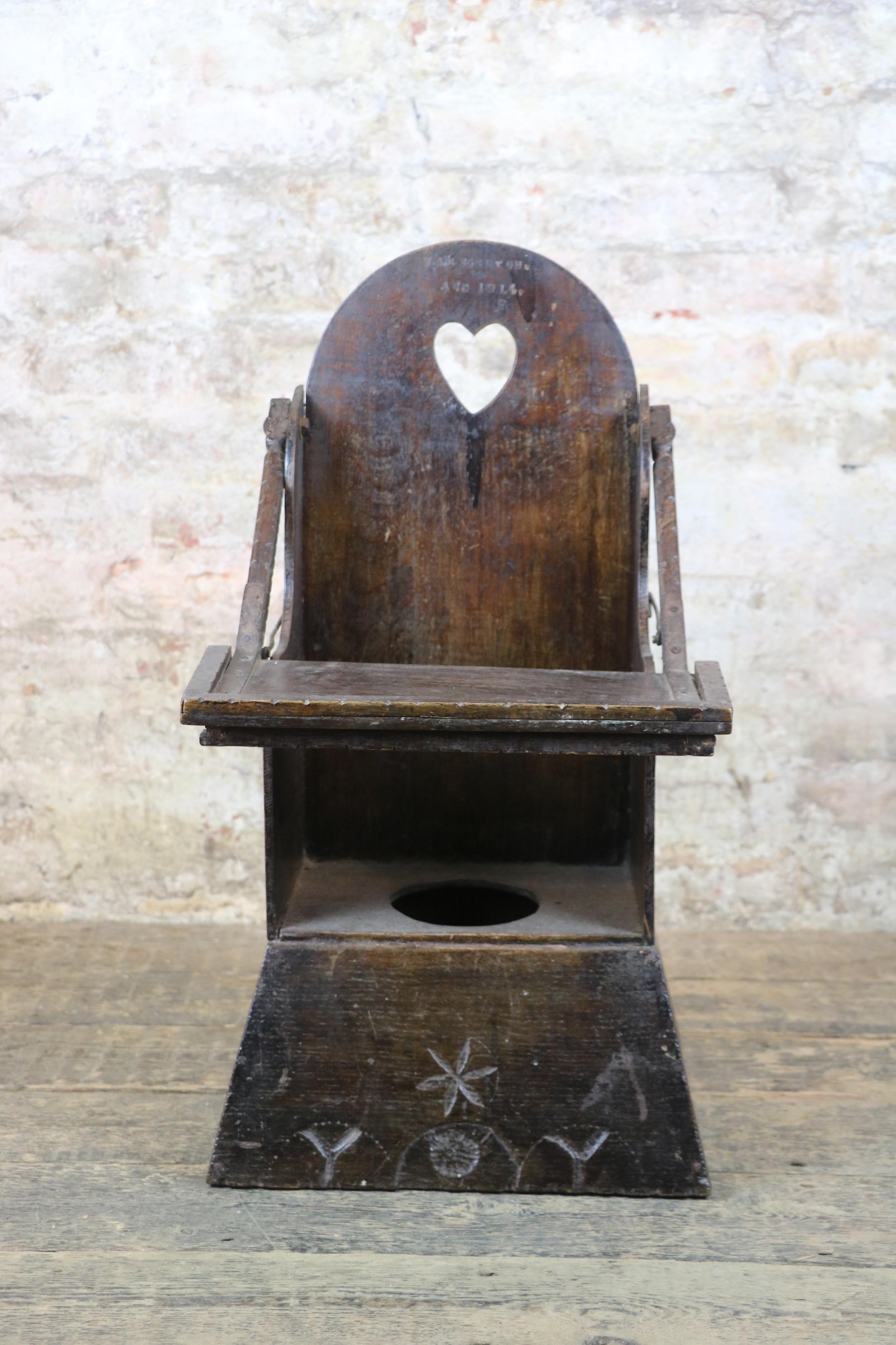 welsh 19th century oak antique childs chair folk art