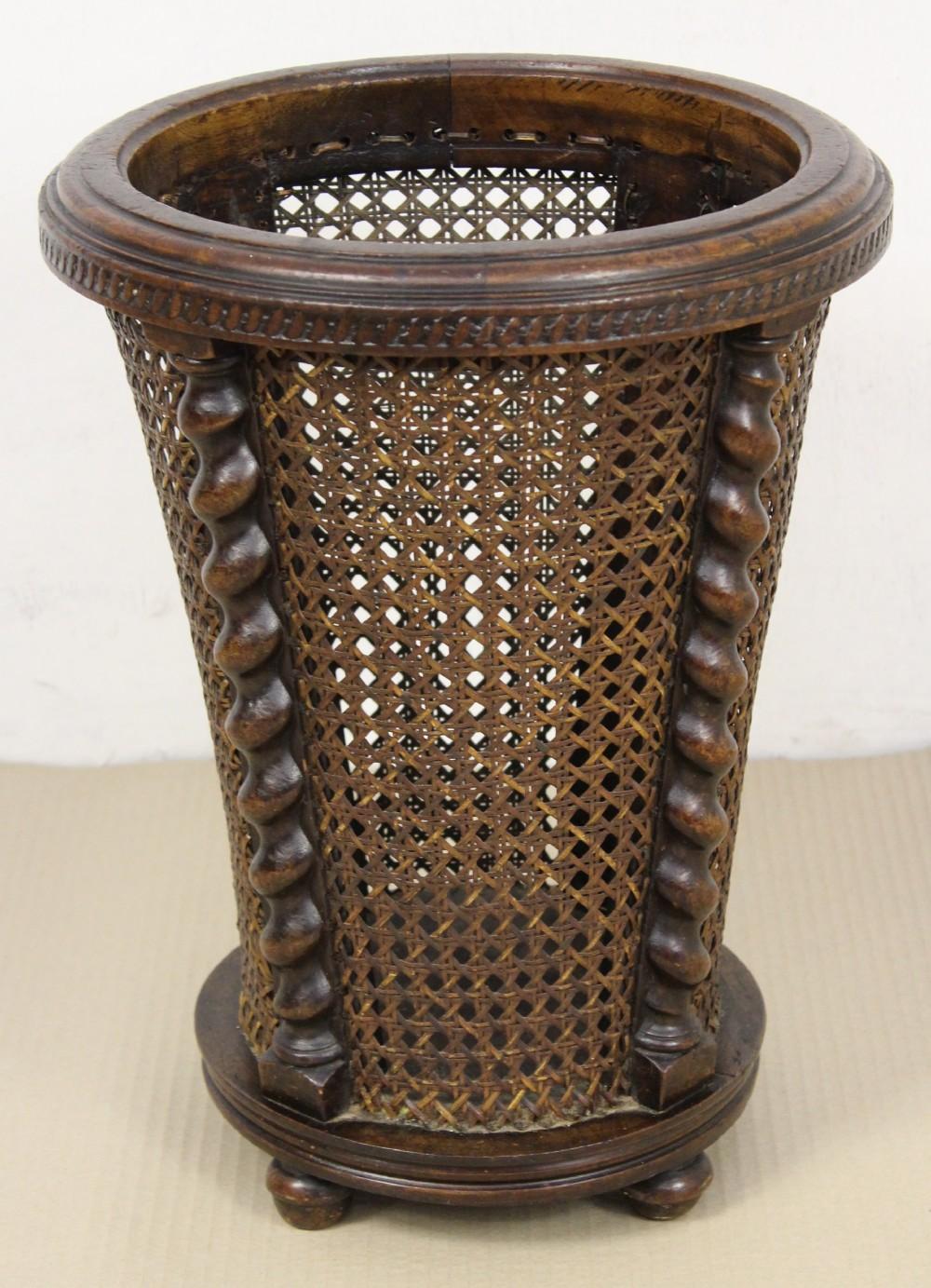 Oak Waste Basket ~ Barley twist oak waste paper basket
