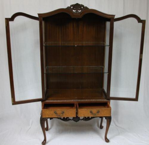Walnut Queen Anne Display Cabinet 171146