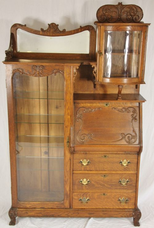american art nouveau bureau cabinet 183630. Black Bedroom Furniture Sets. Home Design Ideas