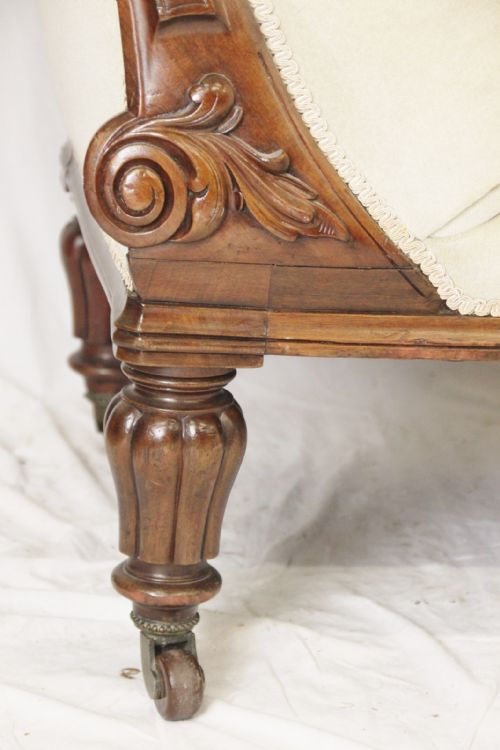 Victorian walnut chaise lounge 241271 sellingantiques for Antique victorian chaise