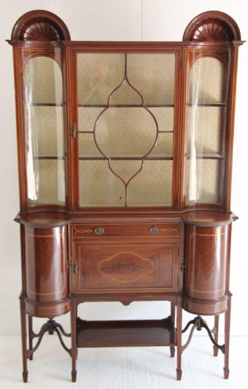 elegant edwardian display cabinet