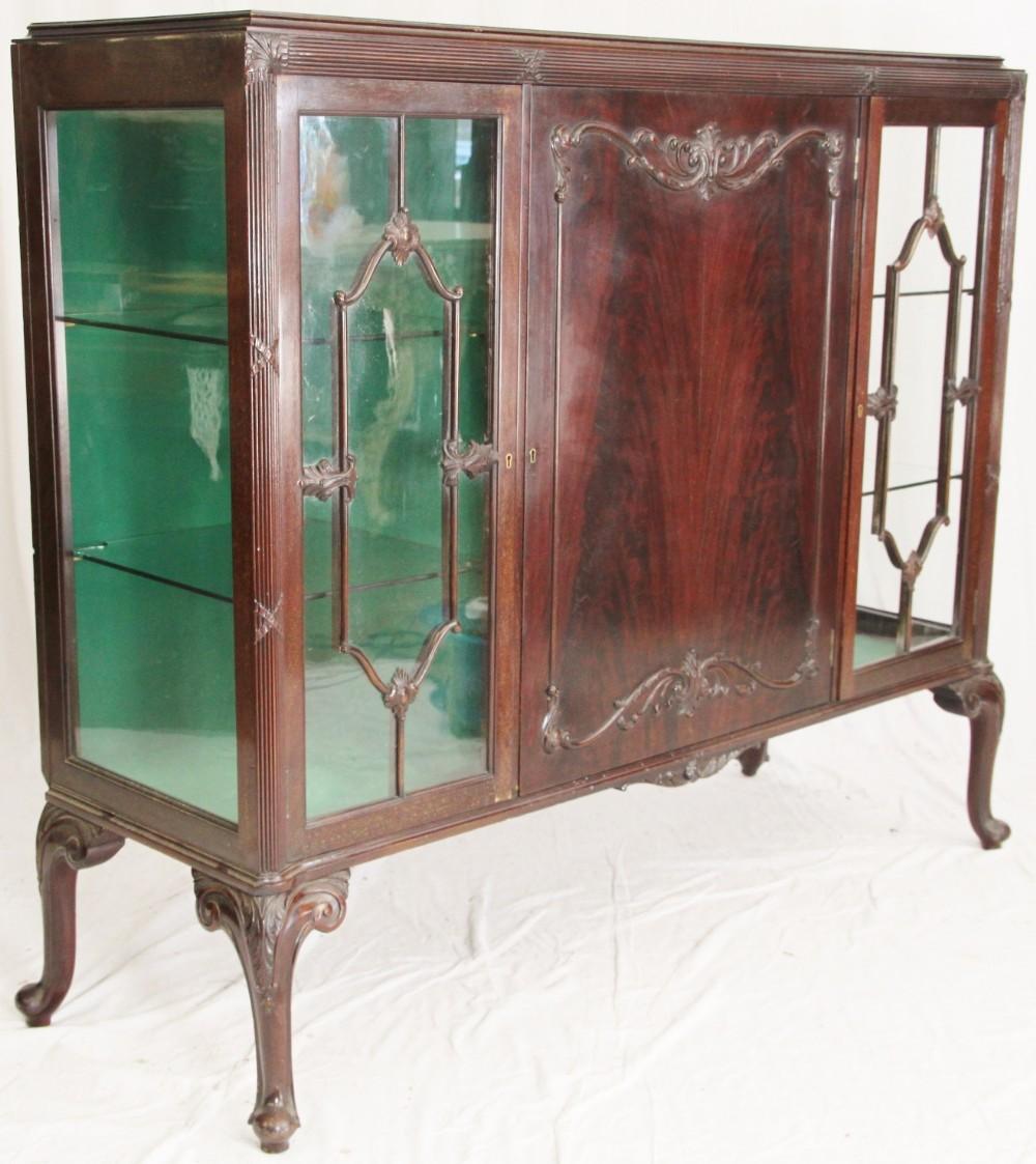 mahogany 3 door china cabinet