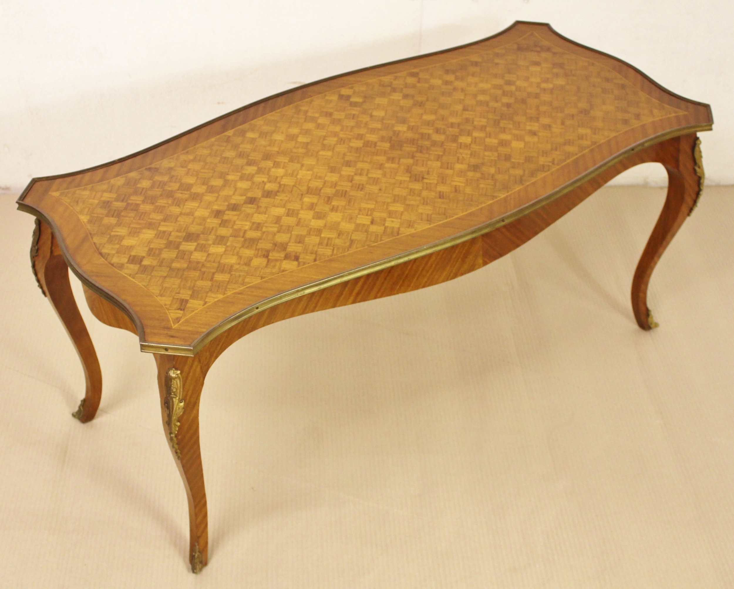 French Kingwood Parquetry Coffee Table