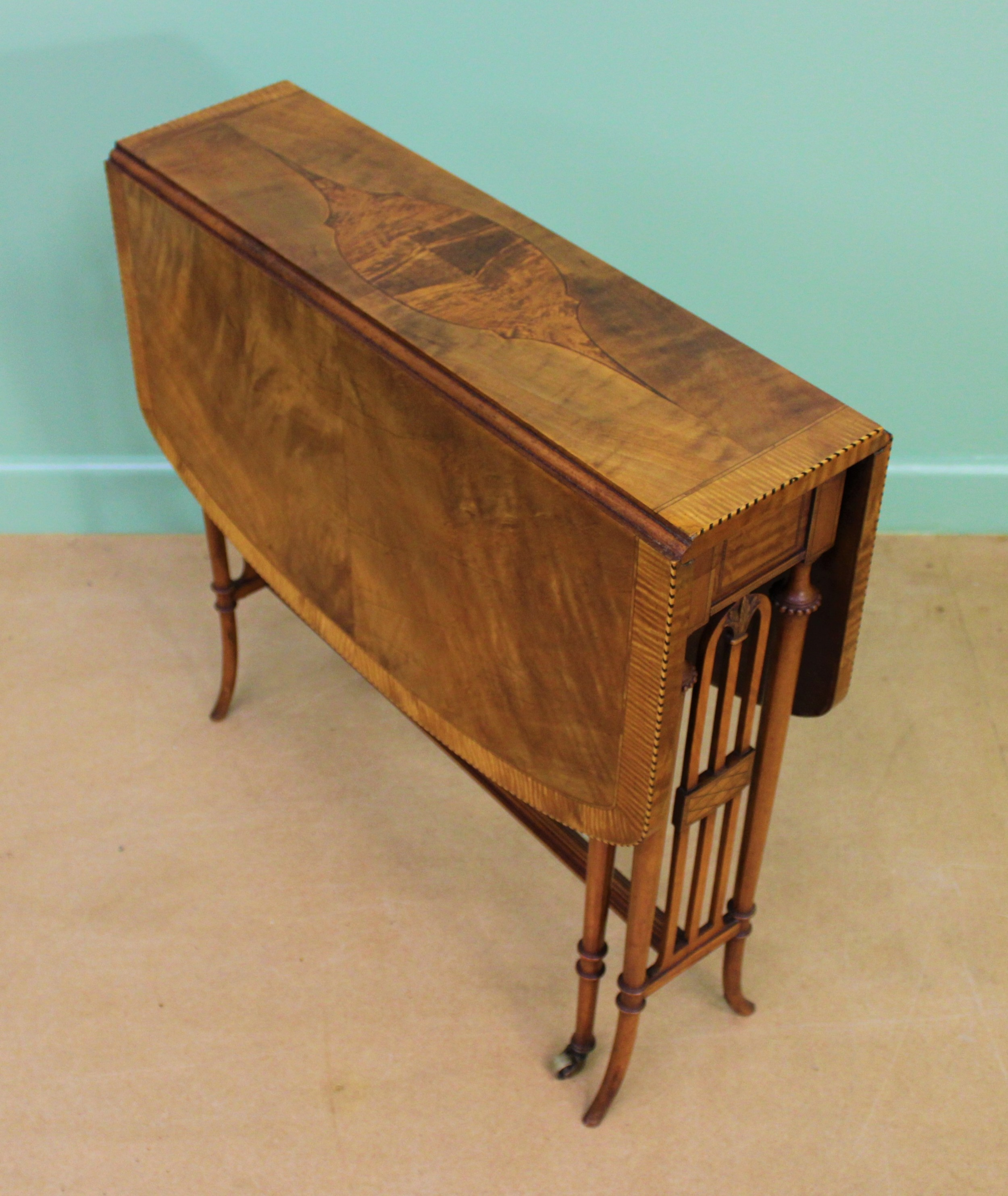 inlaid satinwood sutherland table