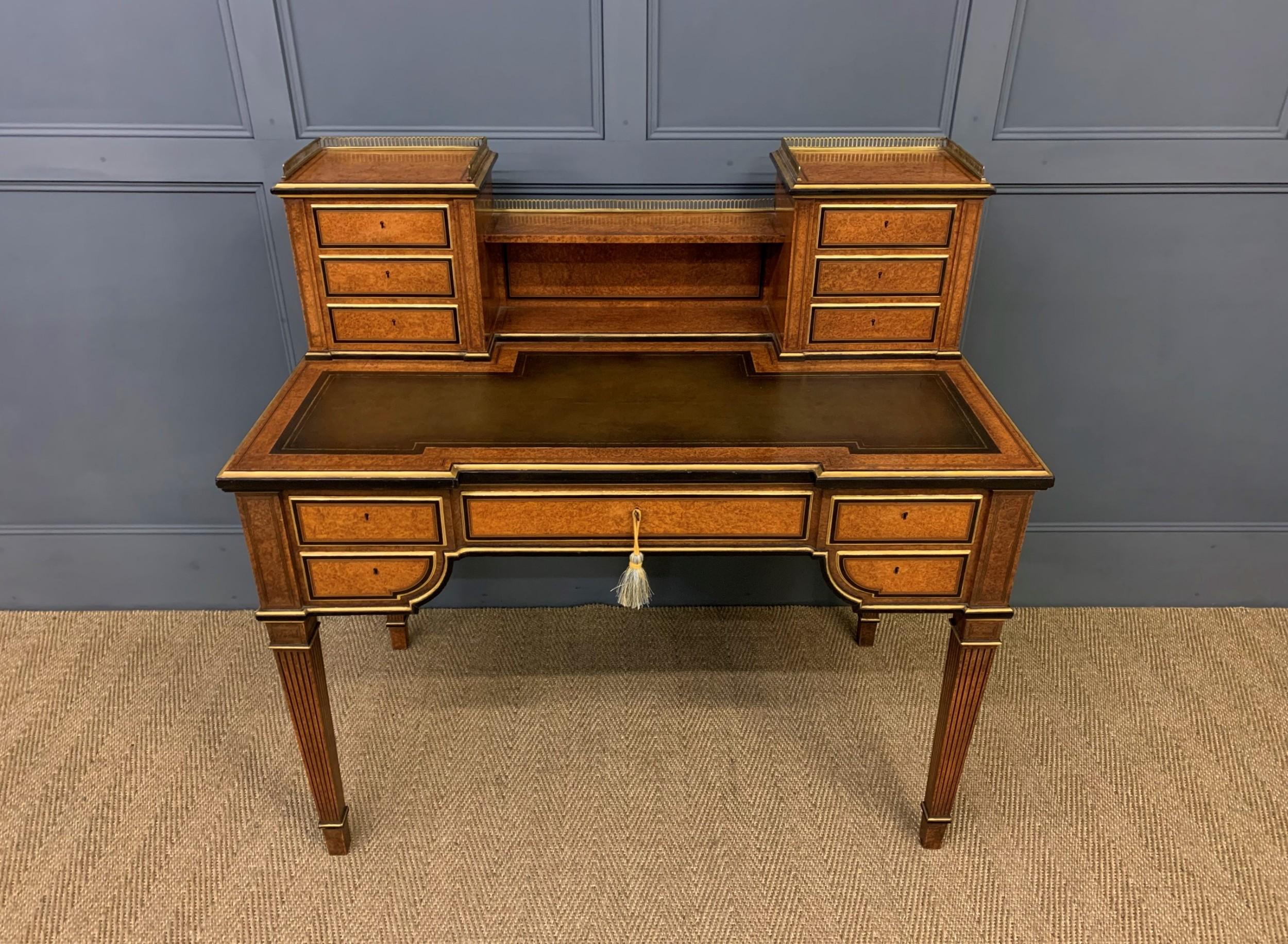 19th century amboyna writing desk