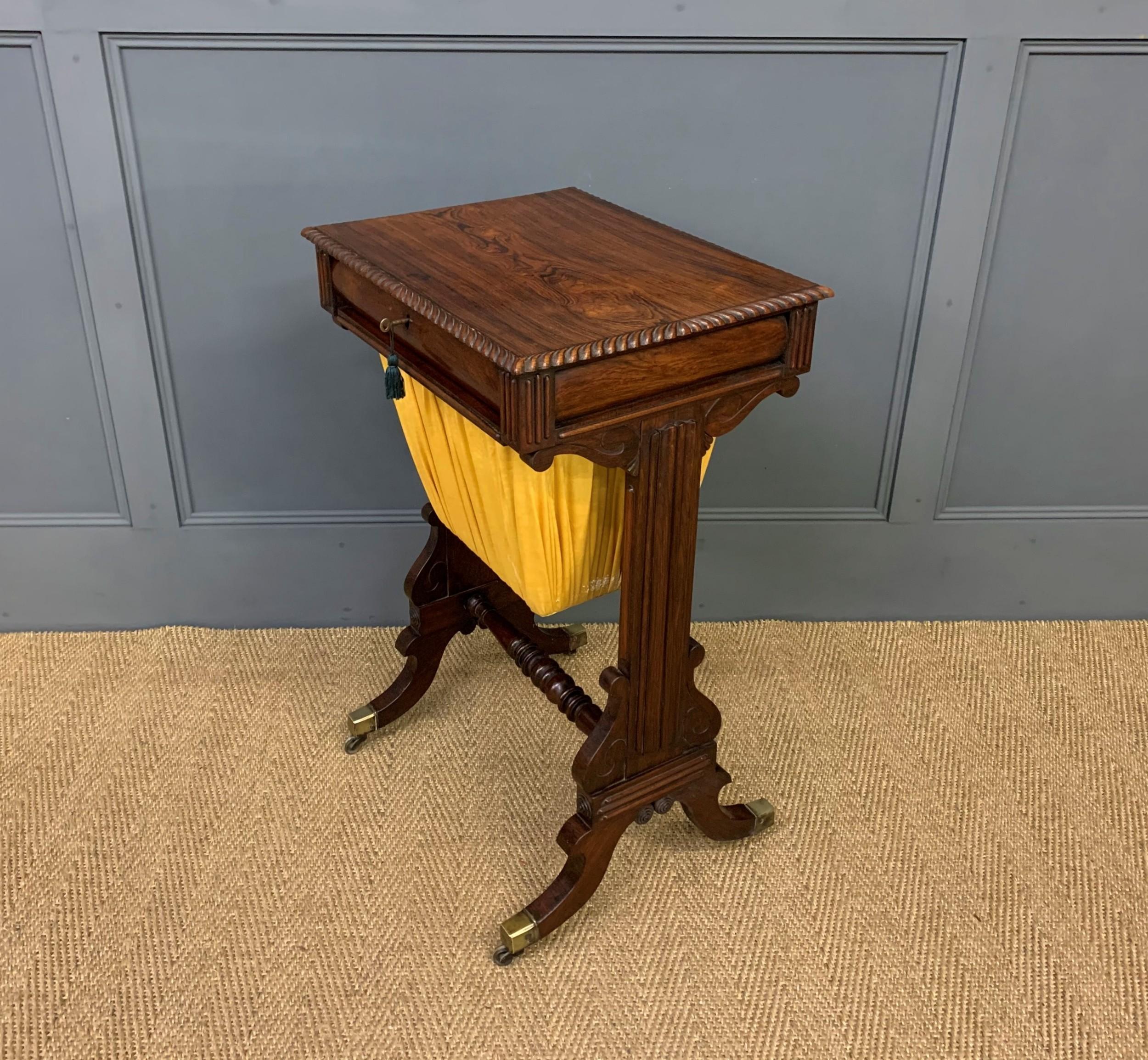 regency period rosewood work table