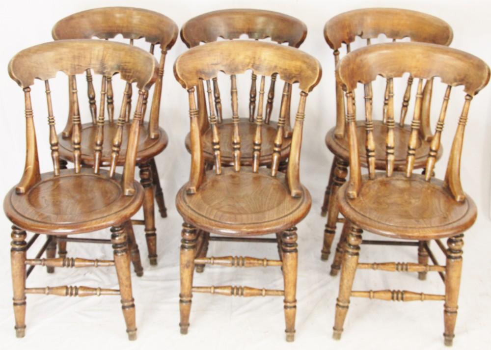 Set 6 Farmhouse Kitchen Chairs 265796