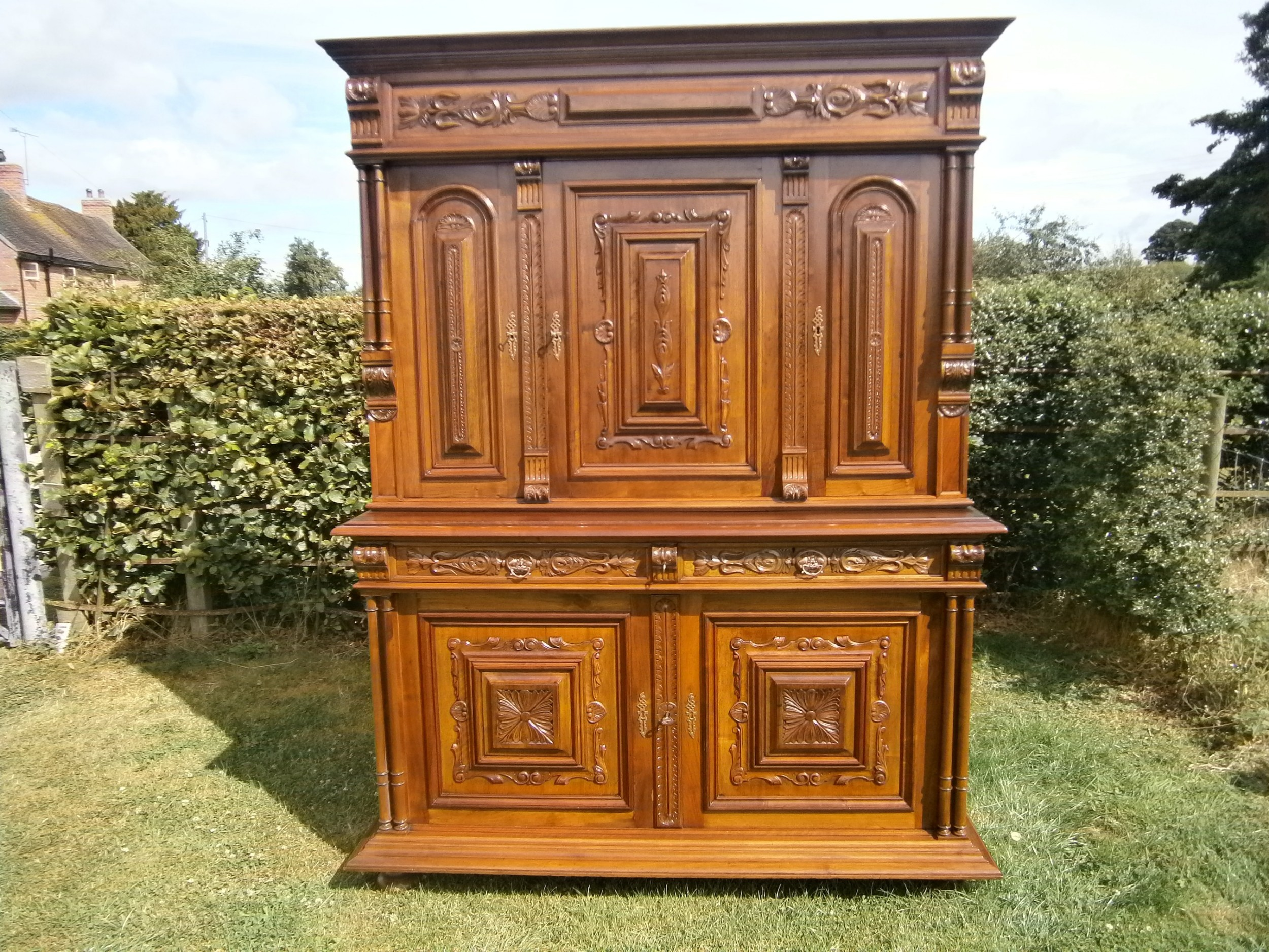 antique french house keepers cupboard