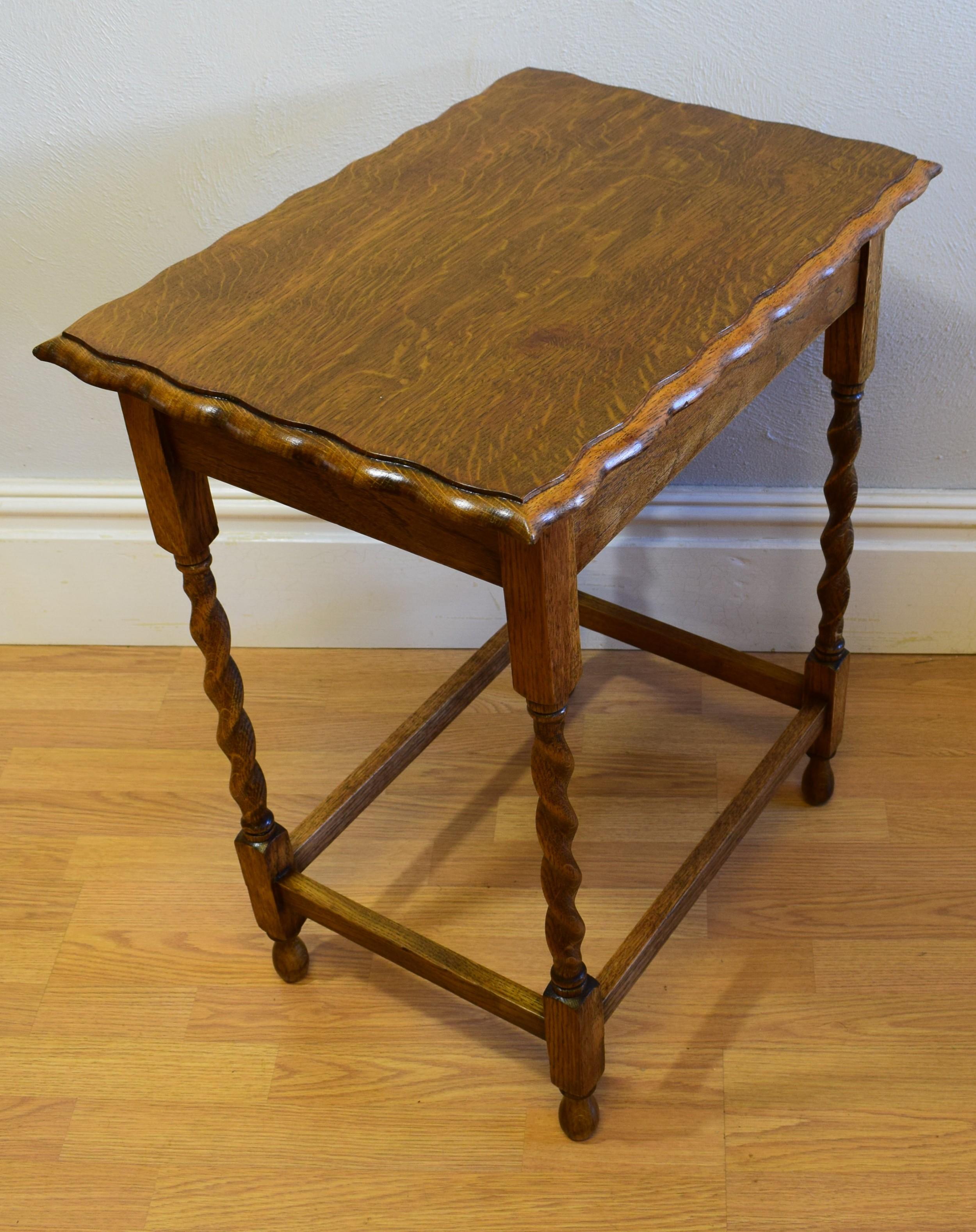 Oak Side Table: Antique Oak Side Table