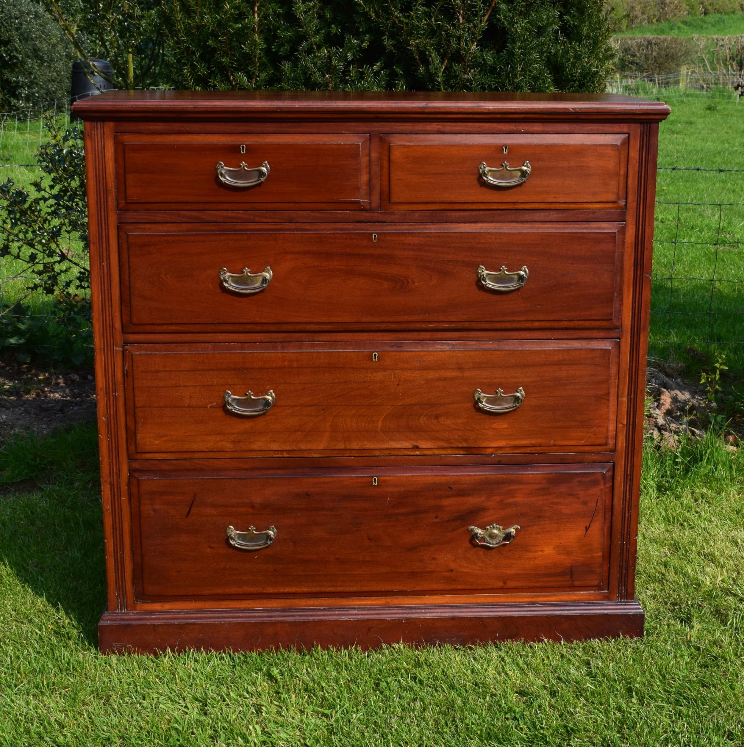 edwardian mahogany chest of drawer's