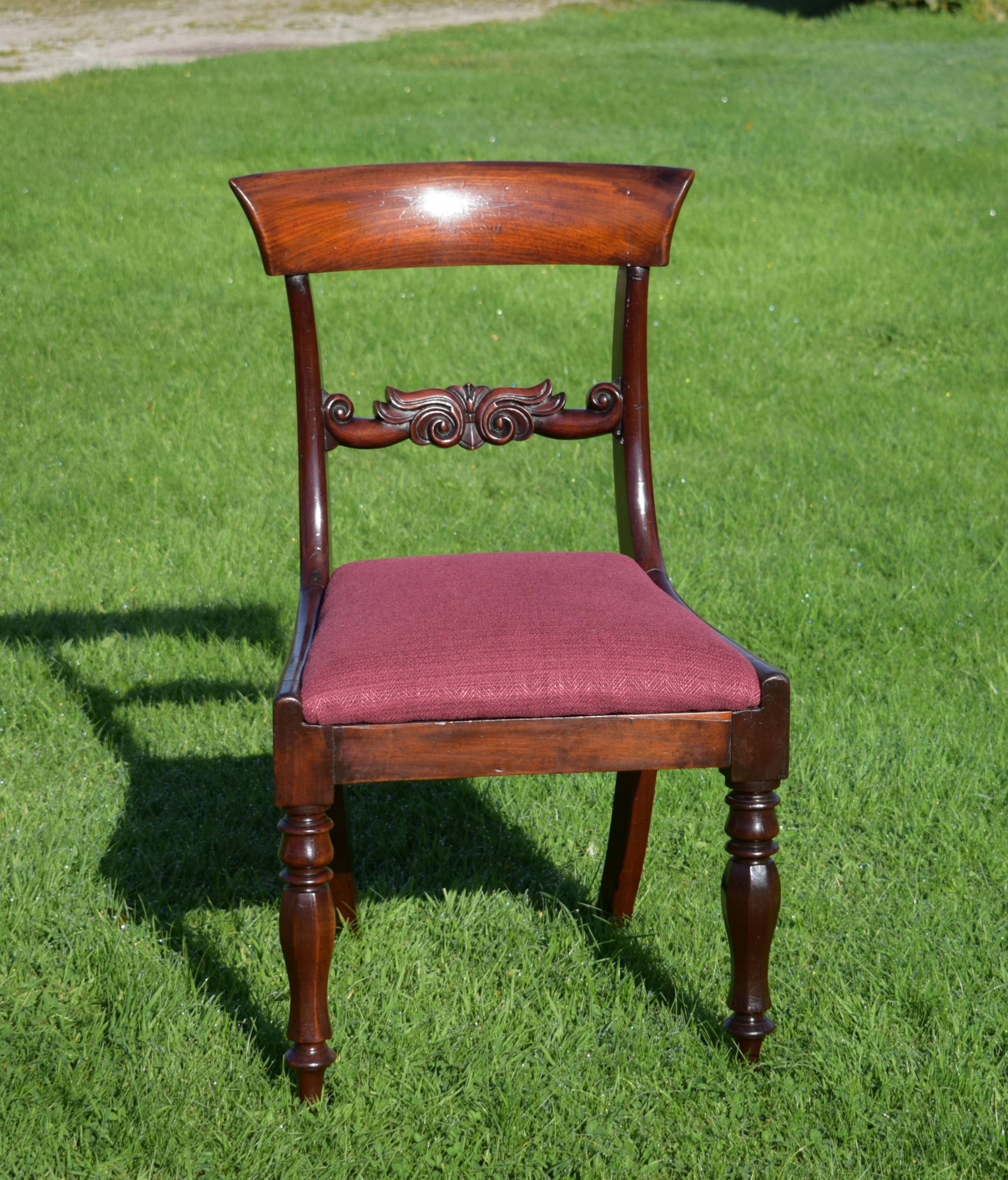 antique english early victorian side chair circa 1850