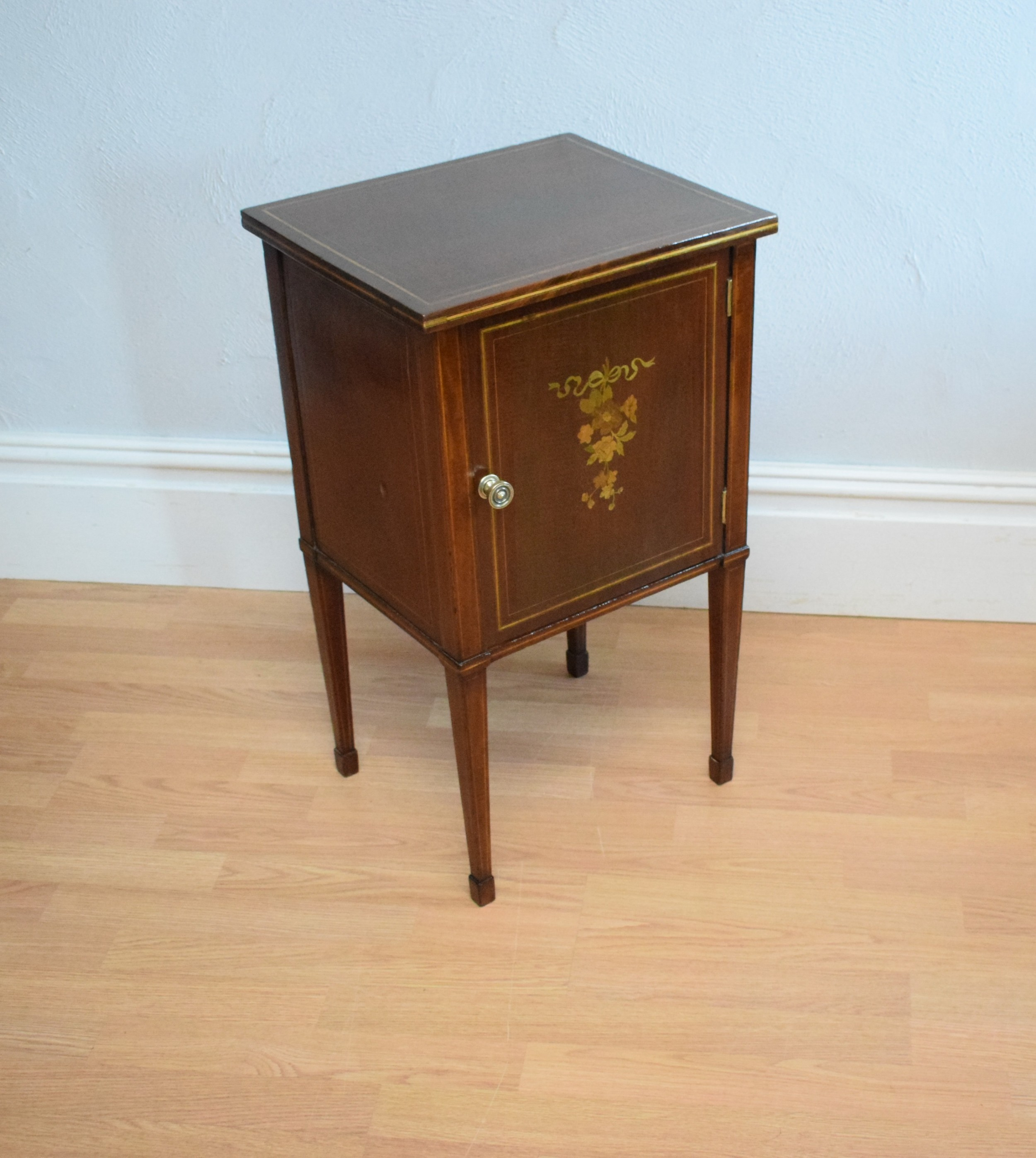 antique edwardian bedside cupboard