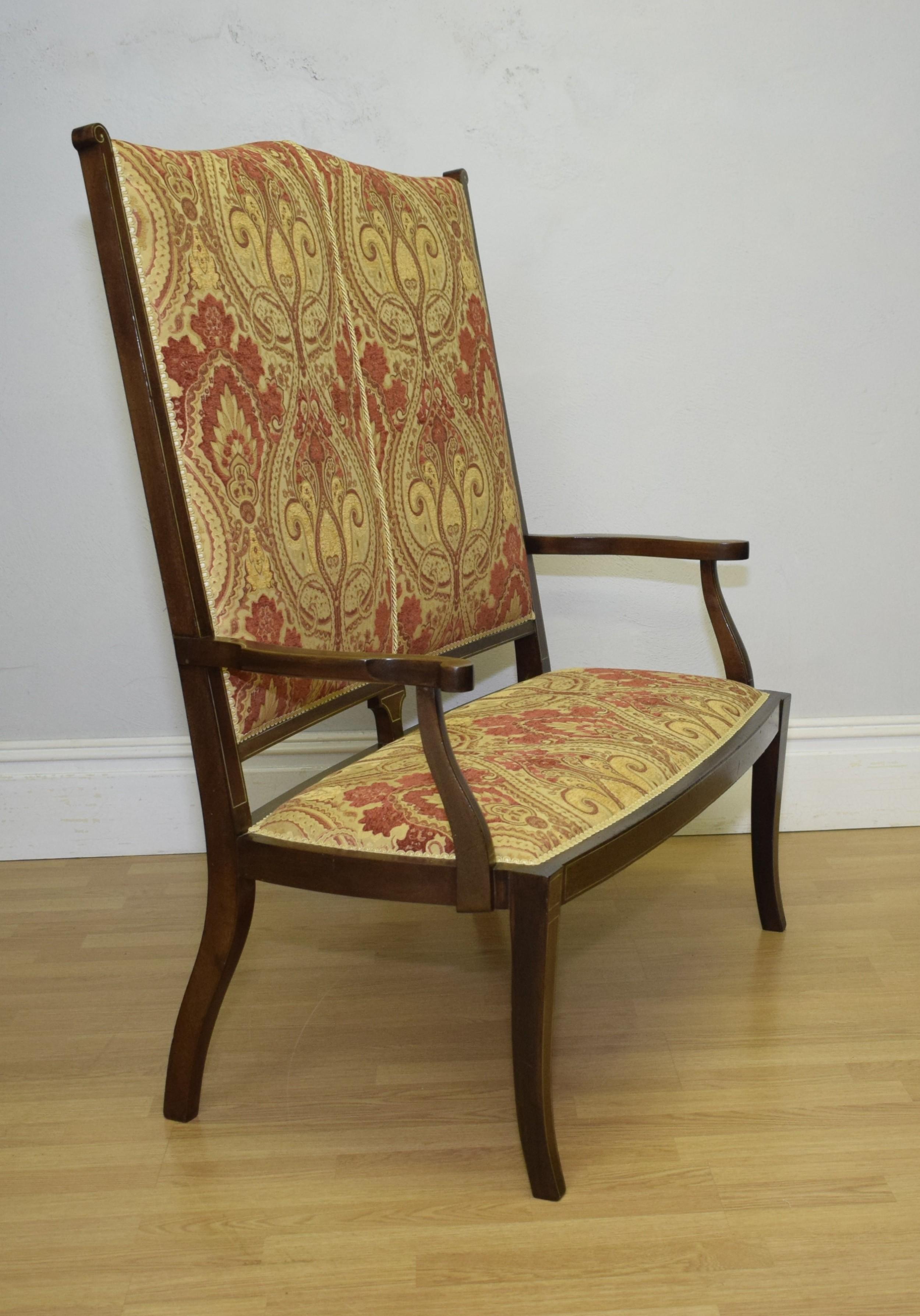 antique english late victorian inlaid sofa couch circa 1890