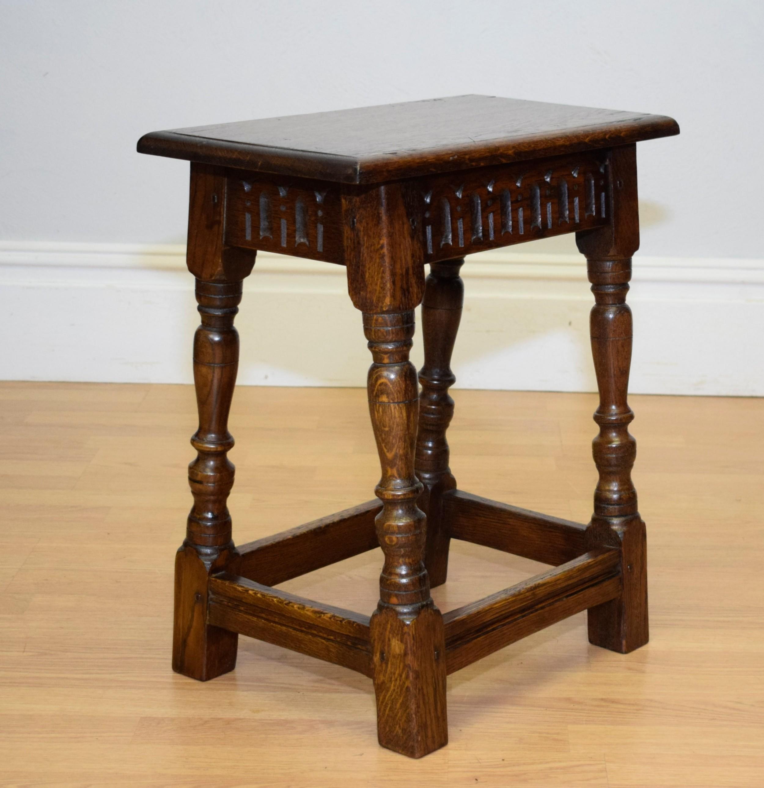 early 20th century oak joint stool