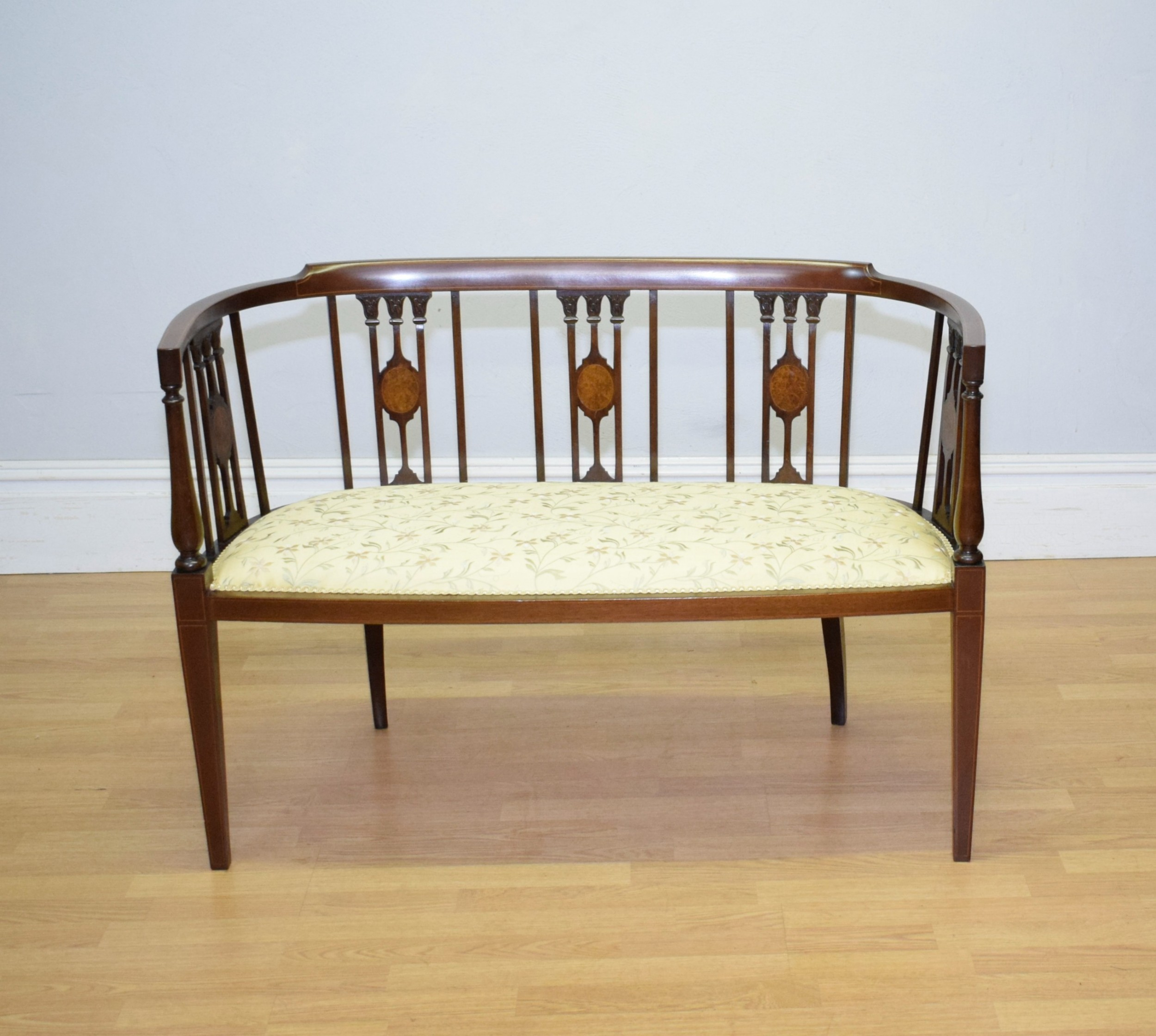 victorian inlaid couch