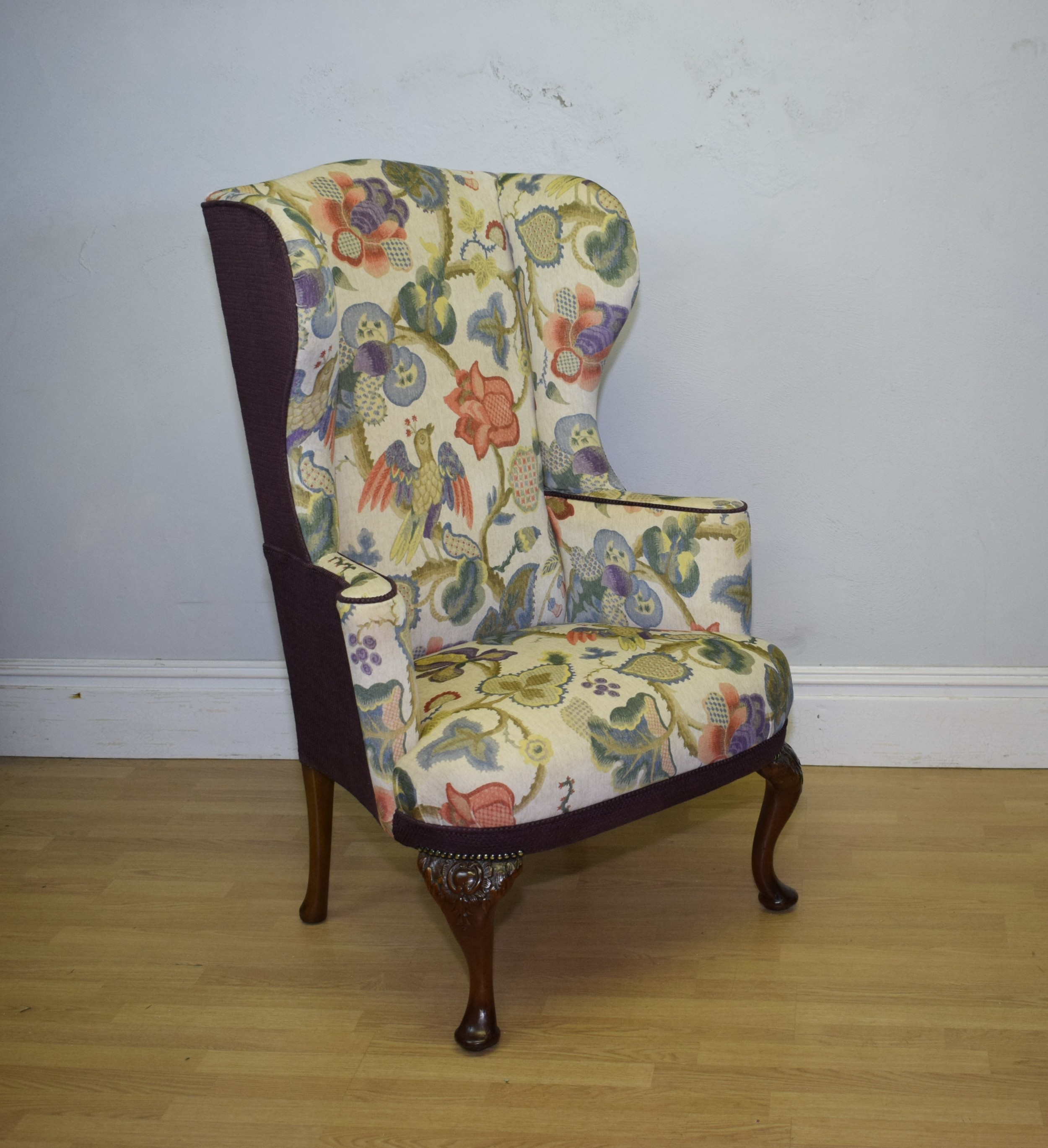 georgian period wing back armchair