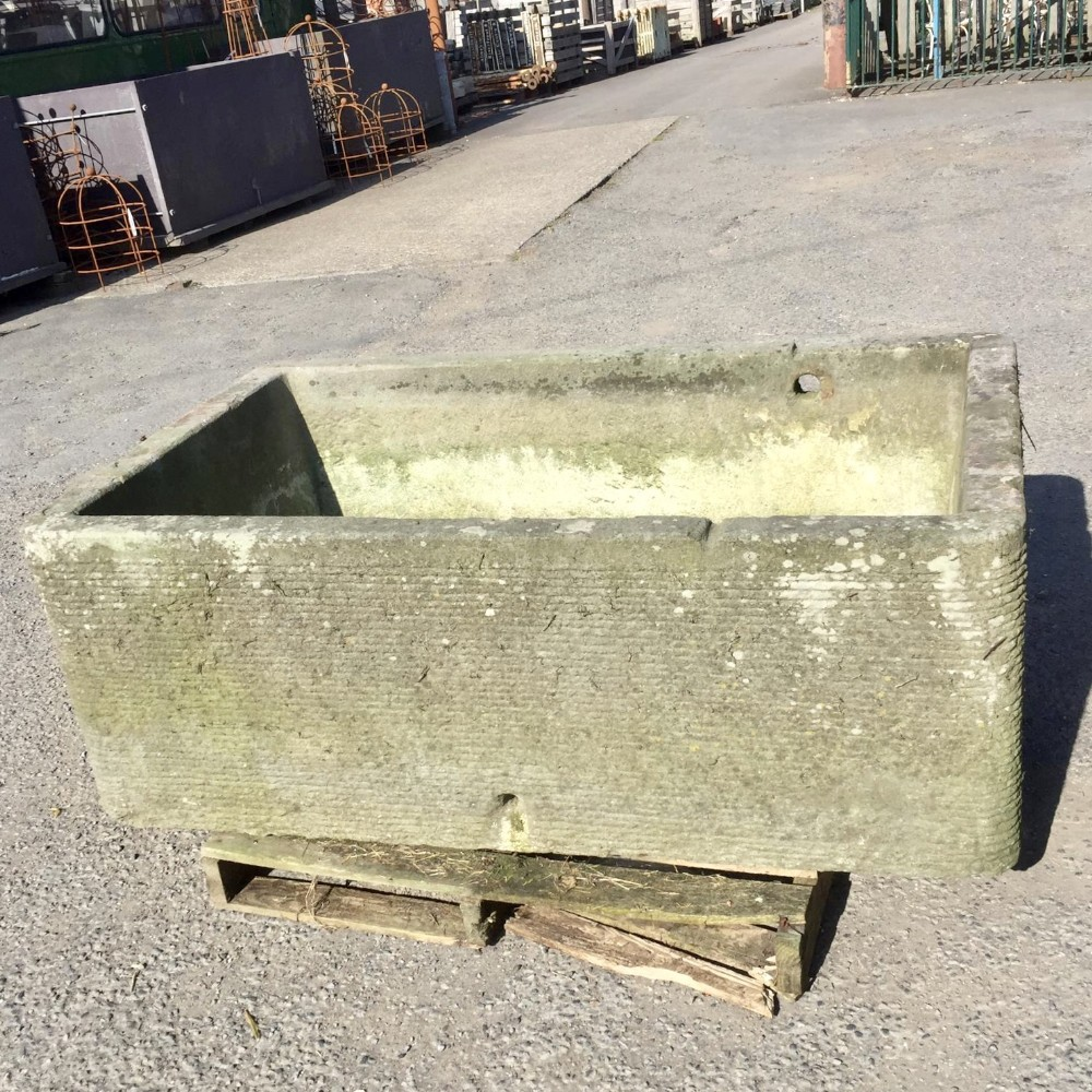 hand chiselled pennant stone trough