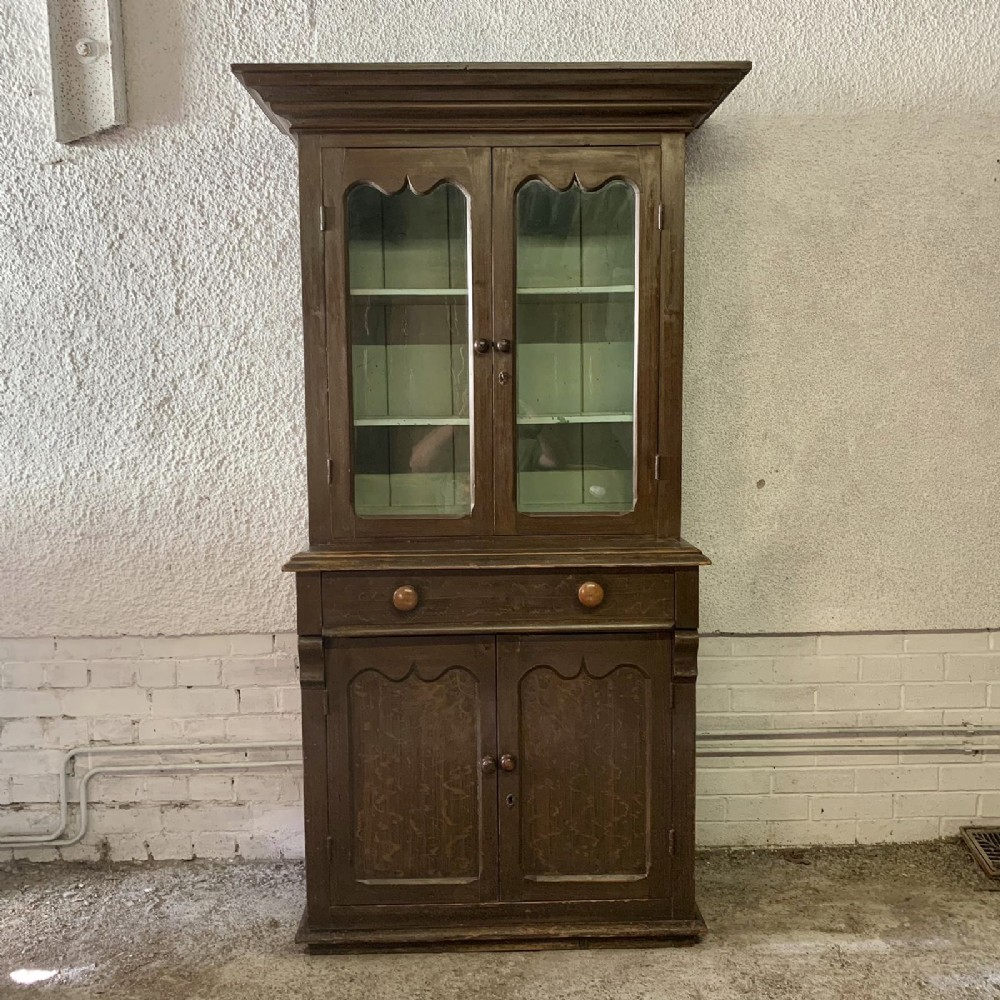 victorian west country glazed top dresser in original paint finish
