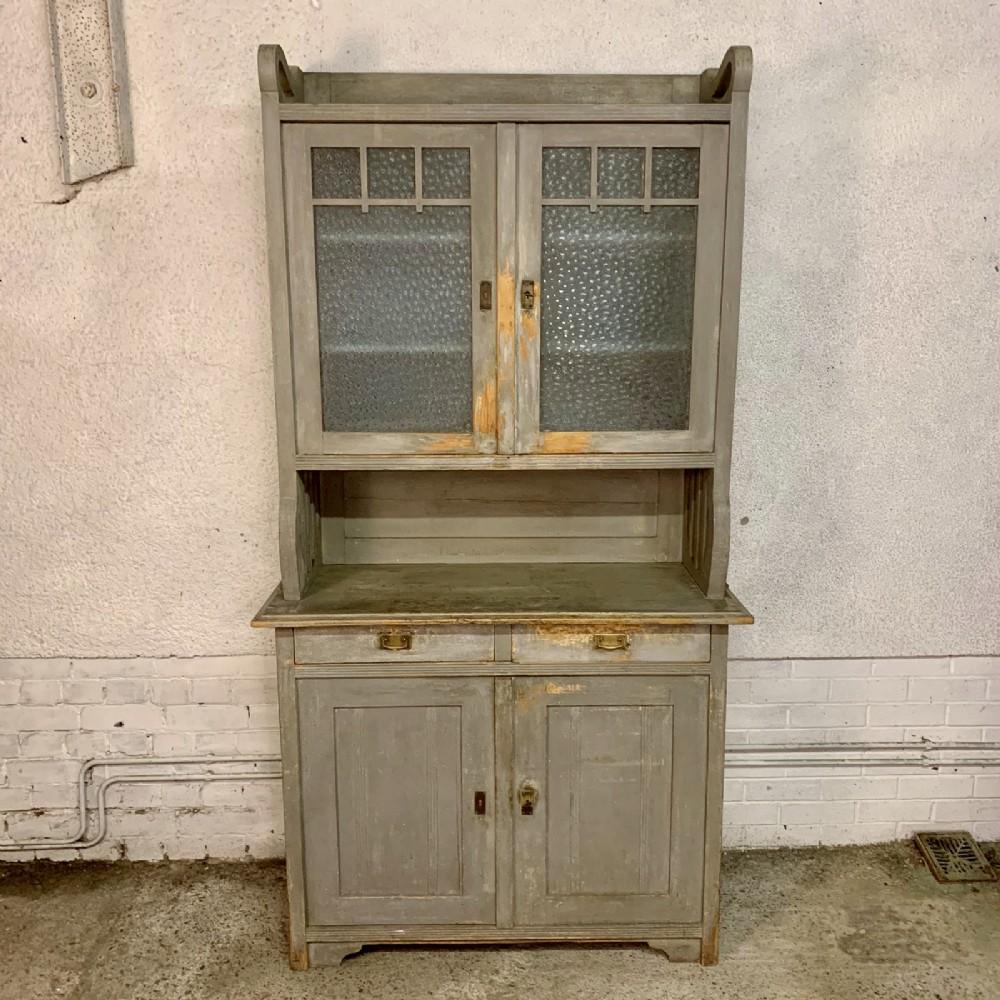 circa 1900 european glazed top dresser with original paint