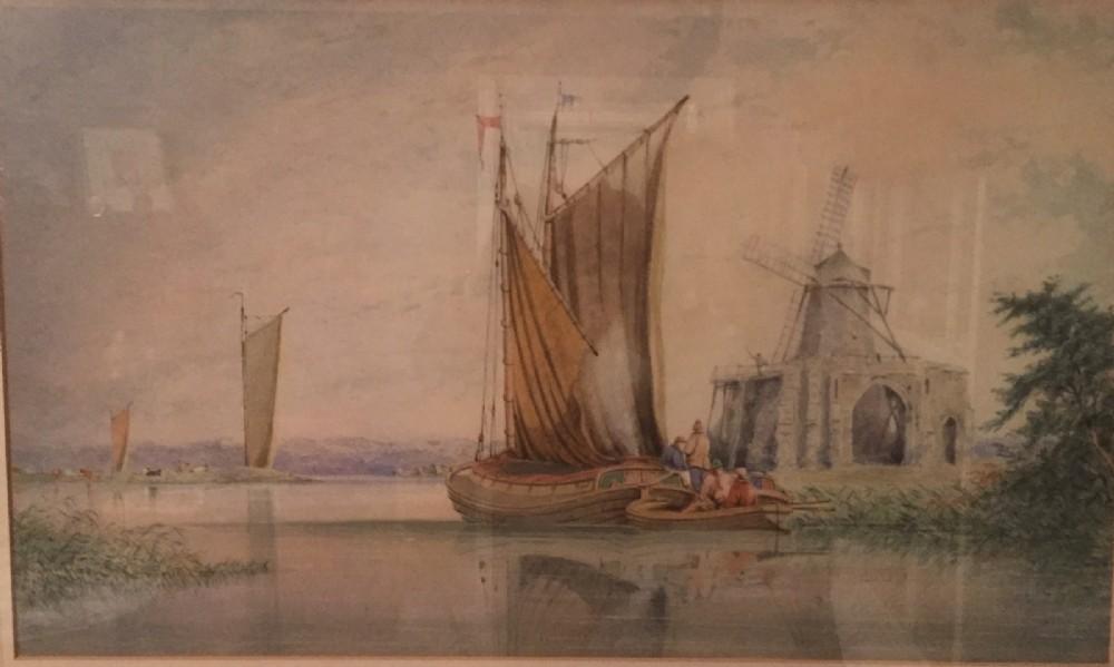 mile edmund cotman 18101858 st benets abbey on the river bure norfolk