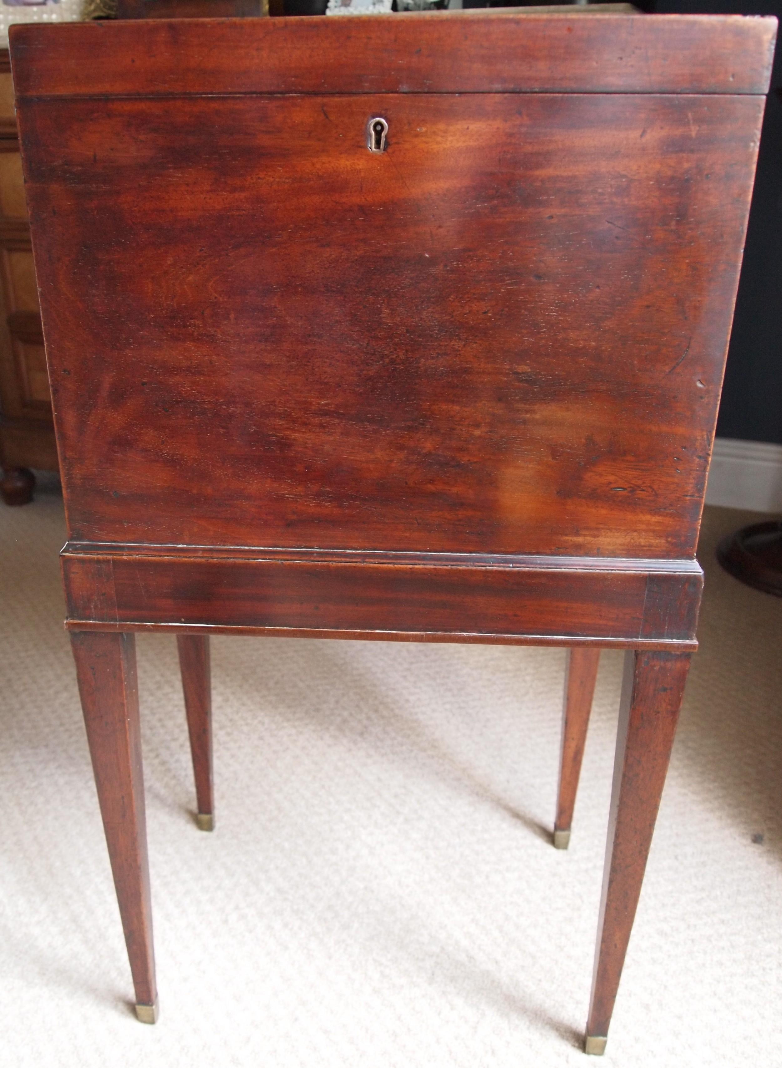 george iii mahogany wine cellarette