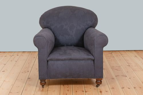 victorian large armchair upholstered