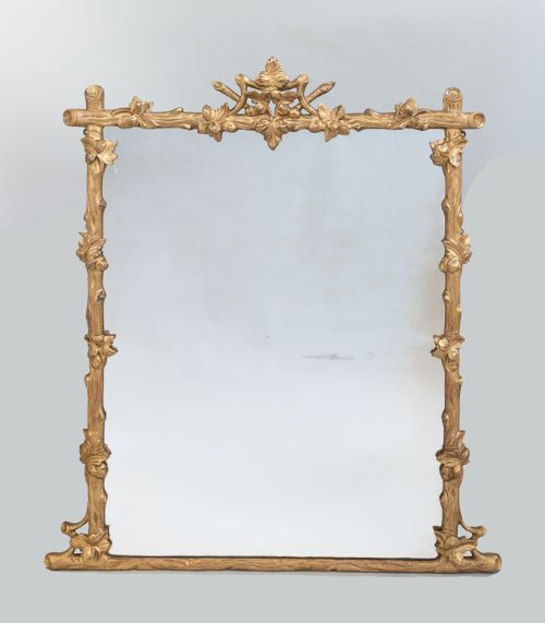 late 19th century large english victorian gilt overmantle mirror